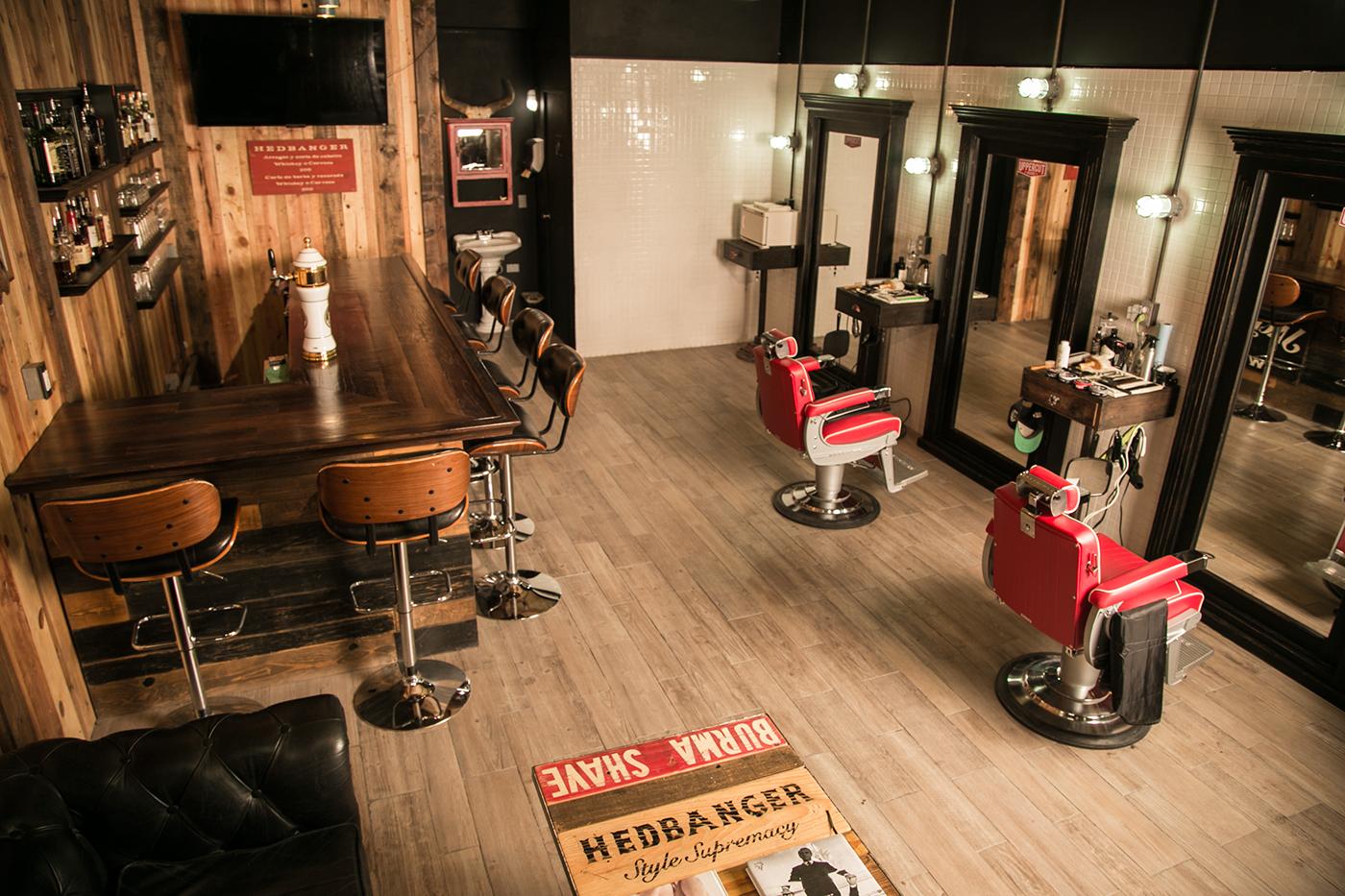 Hedbanger barbershop whiskey bar on behance for The barbershop a hair salon for men
