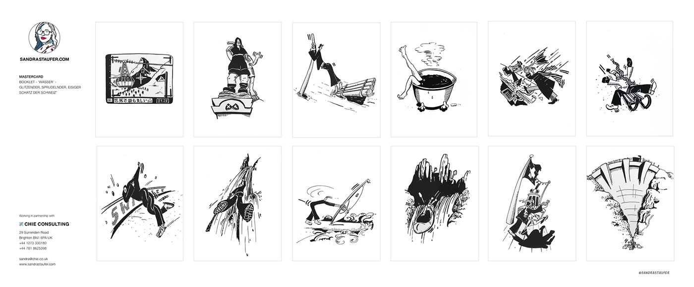 Illustration by Sandra Staufer for MasterCard Switzerland