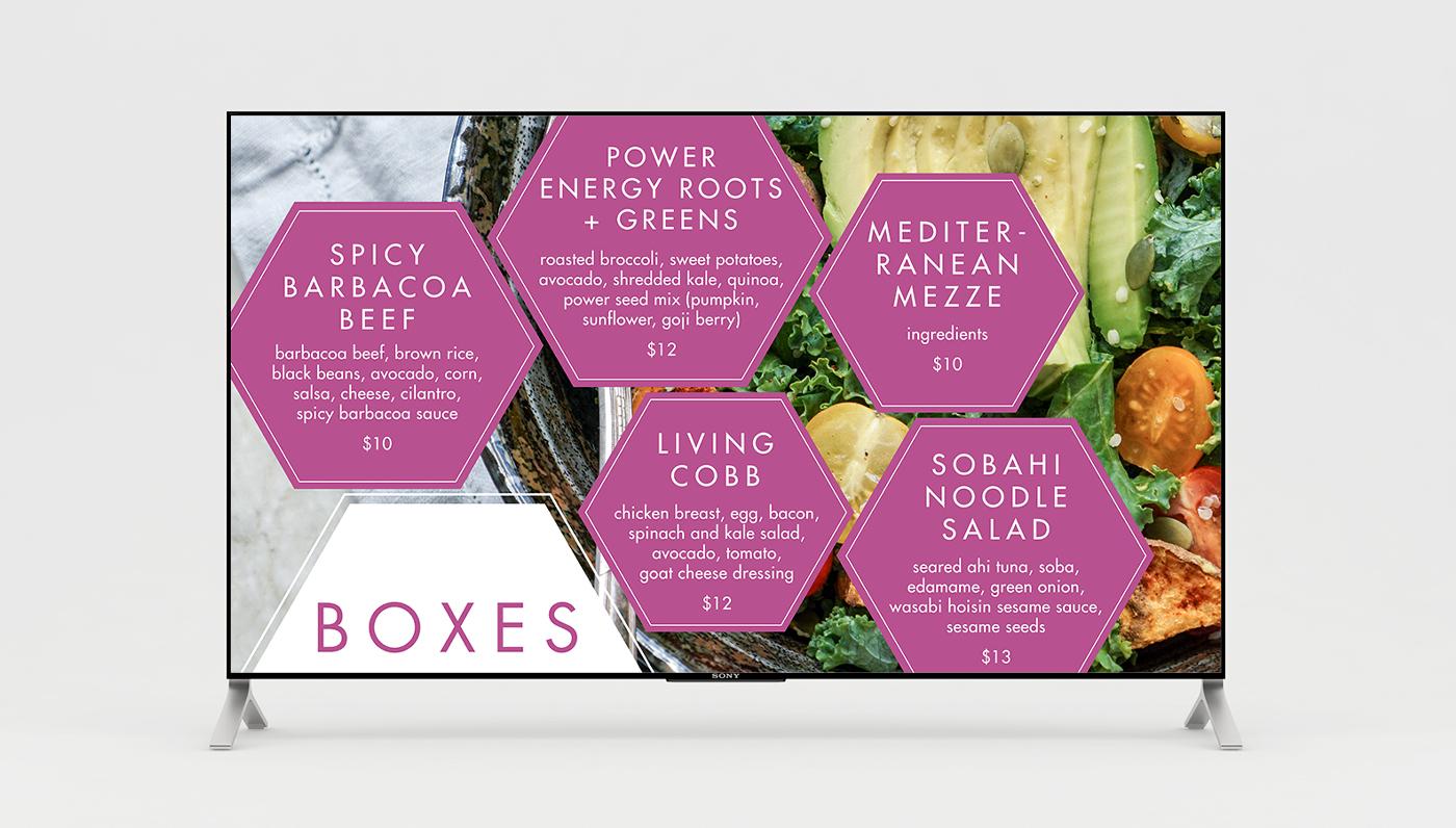 sandwich board menus labels posters letter head environmental design