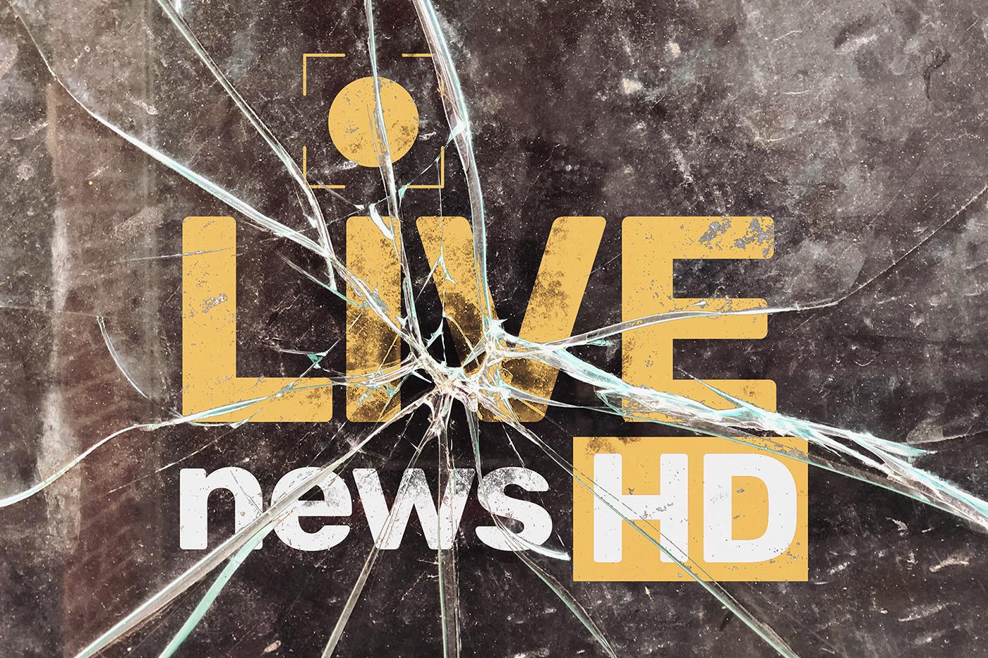 broken crash glass logo mock-up Mockup photo psd signboard Window