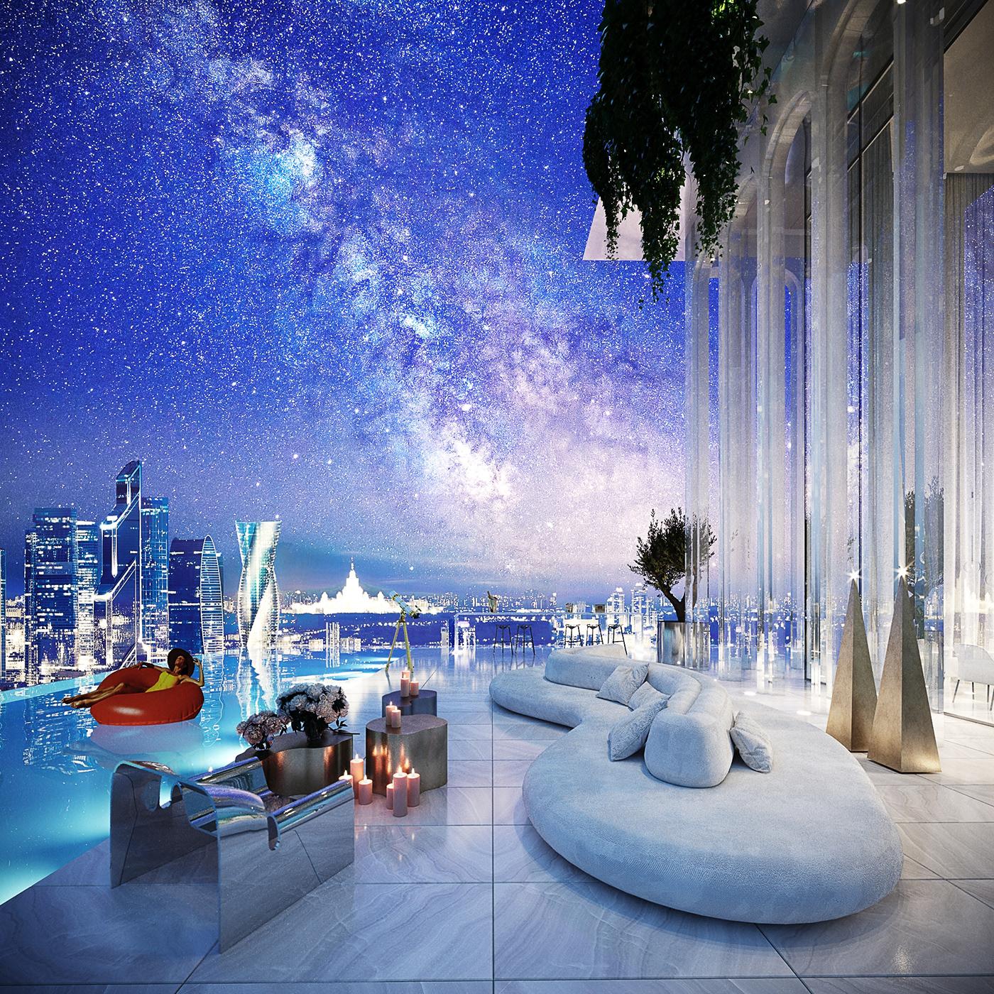 architect architecture coronarenderer design Interior interiordesign Swimmingpool