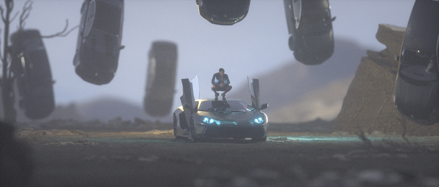 3D Blackmirror clip eye motion music octane rap robot ronin