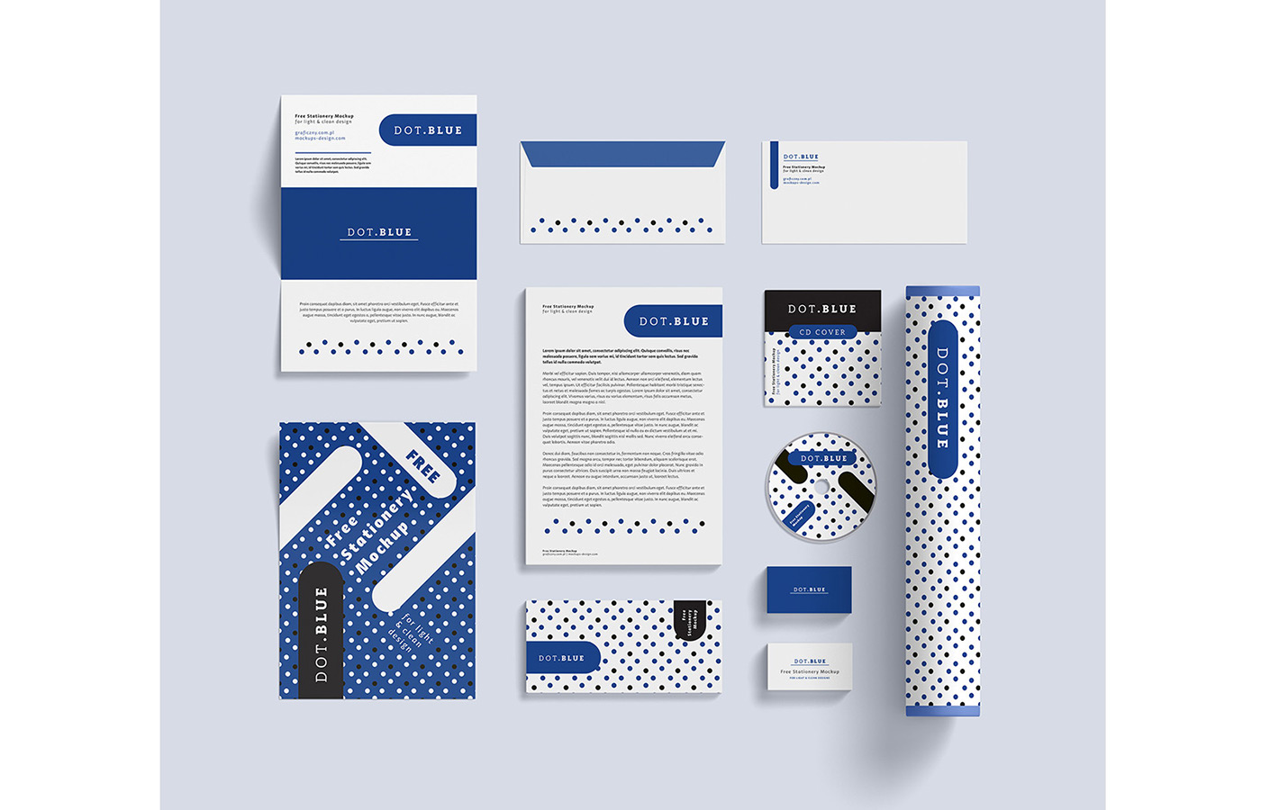 free corporate identity mockup on behance, Powerpoint templates