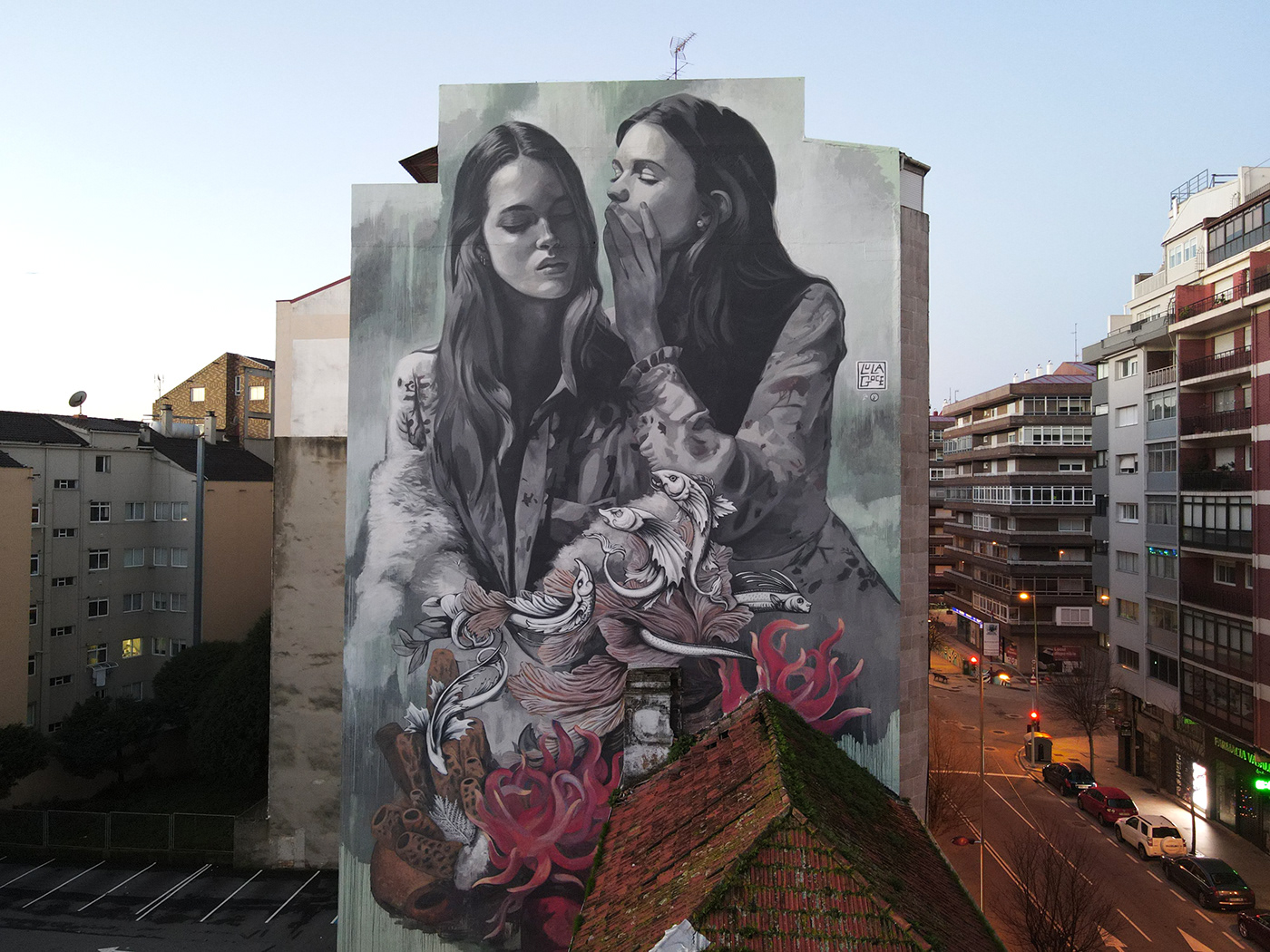 Lula Goce Mural Street Art  streetartist urban art arquitectura arte urbano Graffiti photo