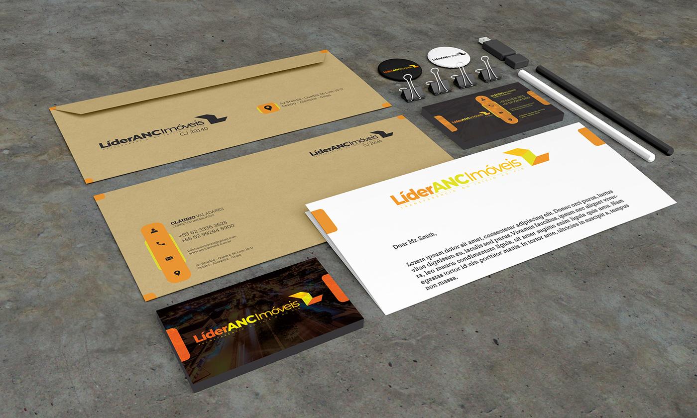 Logomarca brand identidade visual impressos visit card papelaria Cartão de Visita real estate imobiliária