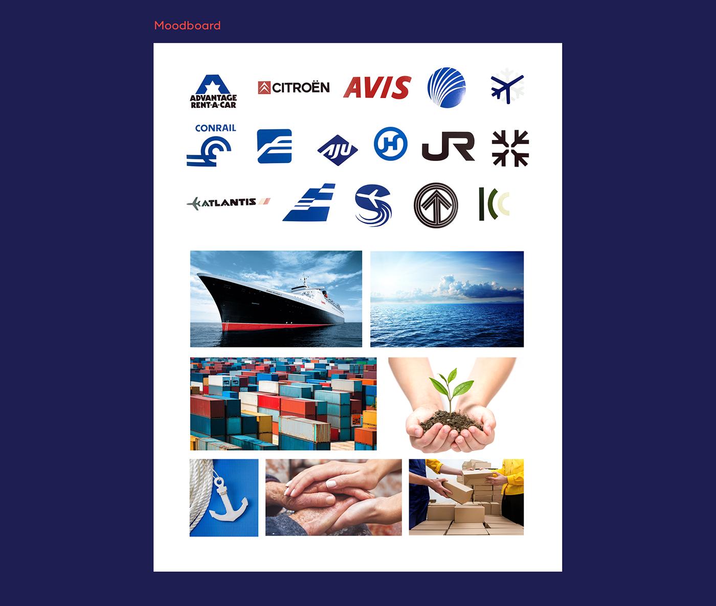 shipping Cargo marine India Ocean sea ship branding  logo design