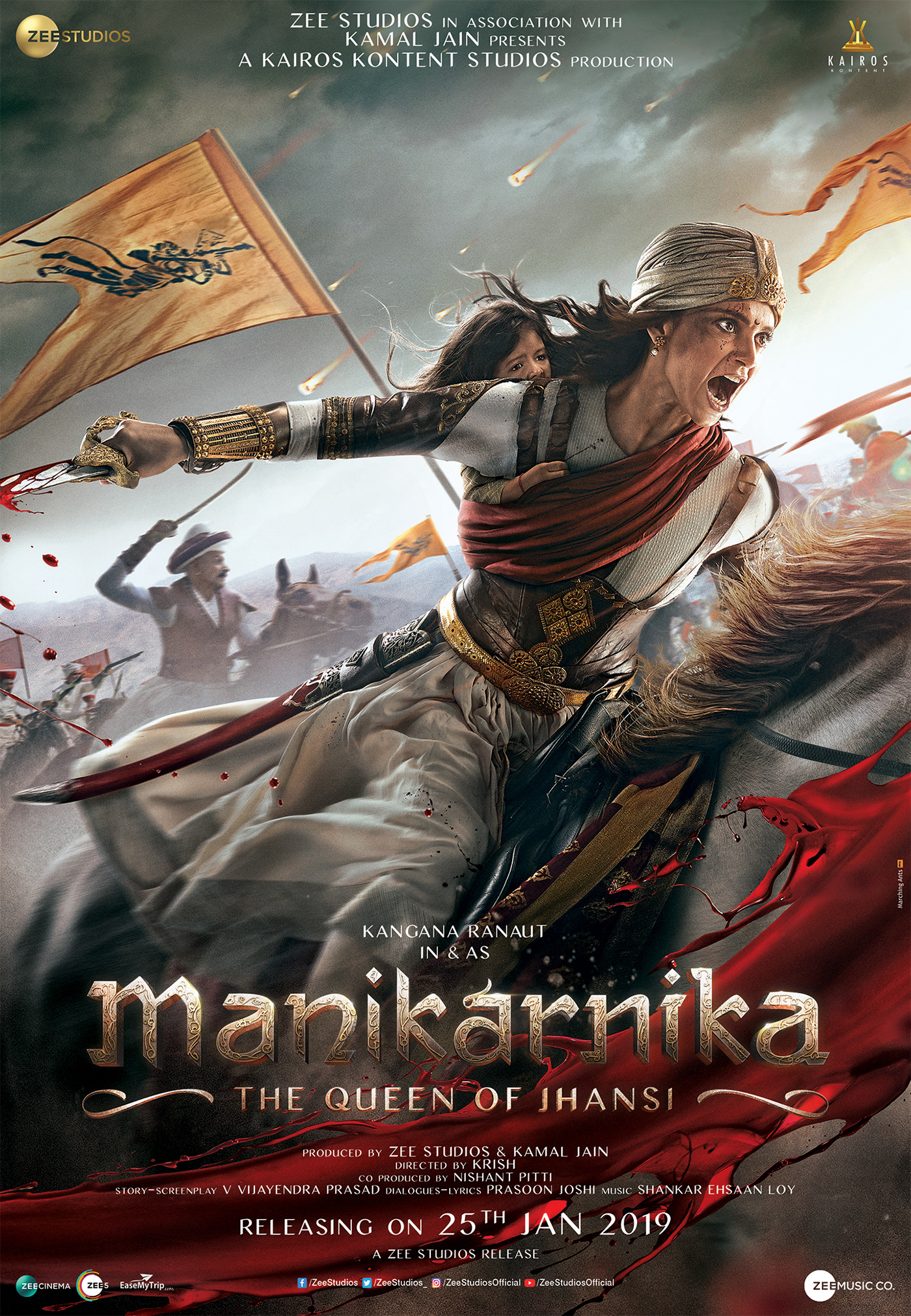 Manikarnika : The Queen of Jhansi (2019) 720p Pre-DVDRip x264 MP3 Hindi 1.37GB