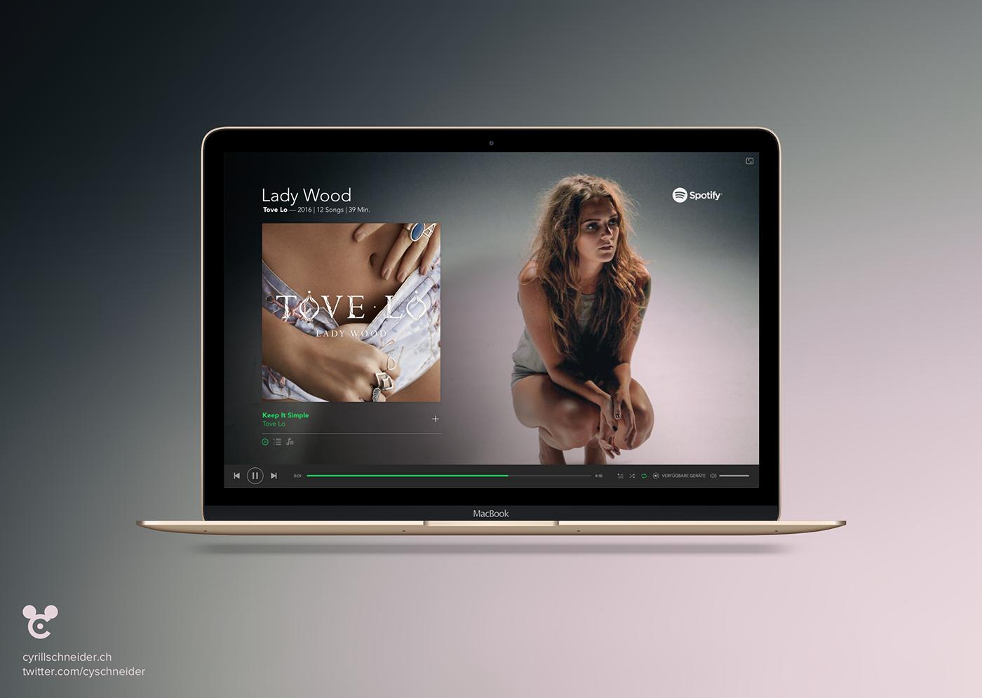 Spotify Player (Desktop) on Behance