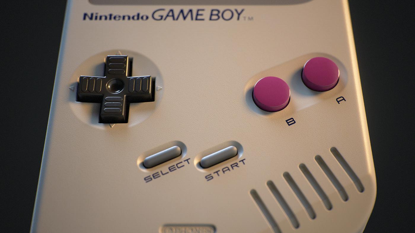 animation  CGI gameboy Nintendo nostalgia nostalgic passionproject photorealism Retro retrogaming
