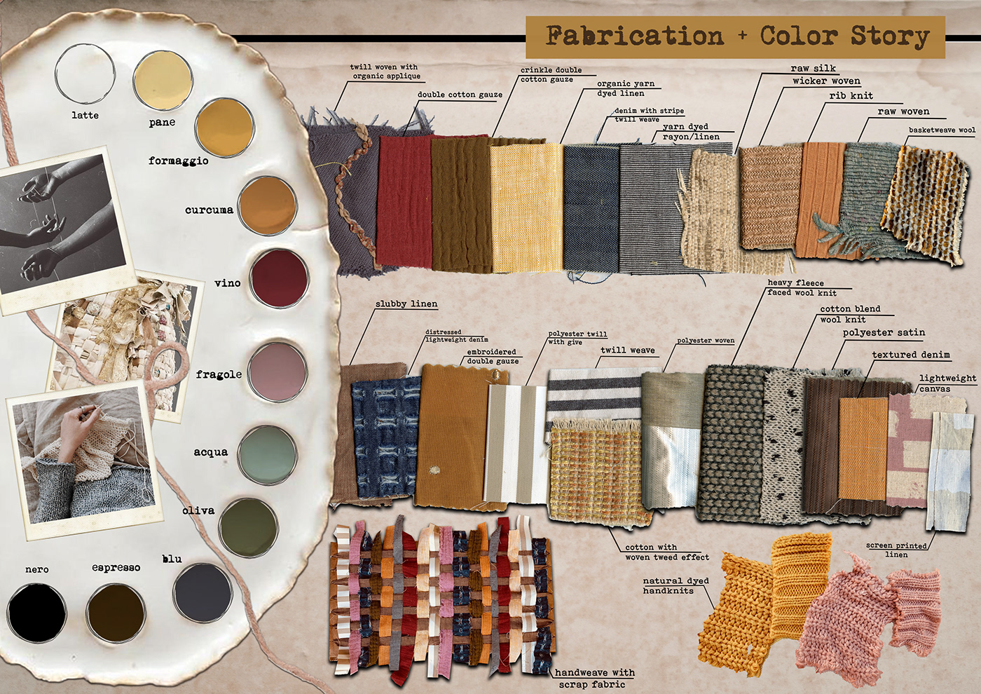 concept development Fabric Board fashion design fashion illustration Hand weaving Illustrator Natural Dying photoshop SLOW FASHION technical flats