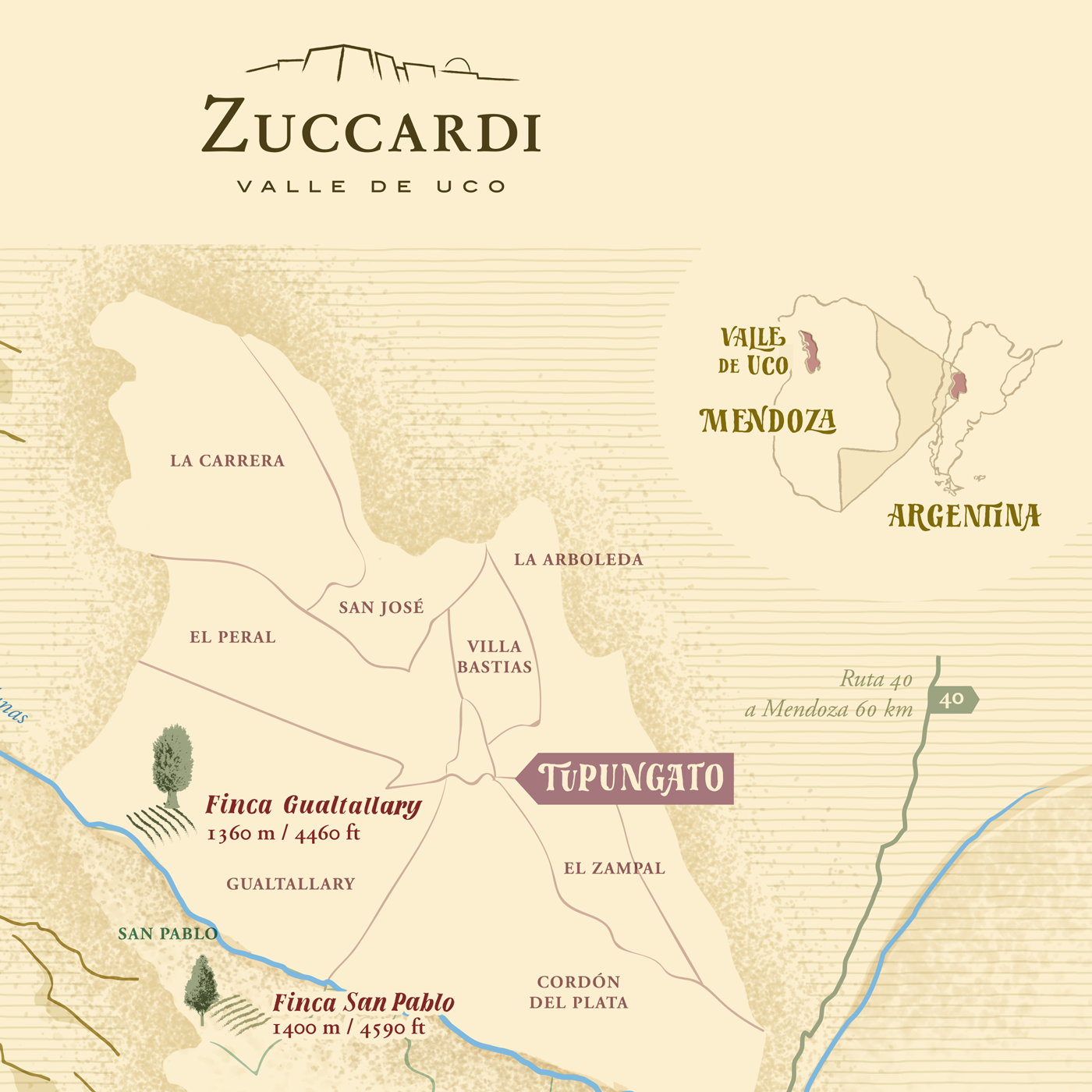 Zuccardis Winery Map On Behance