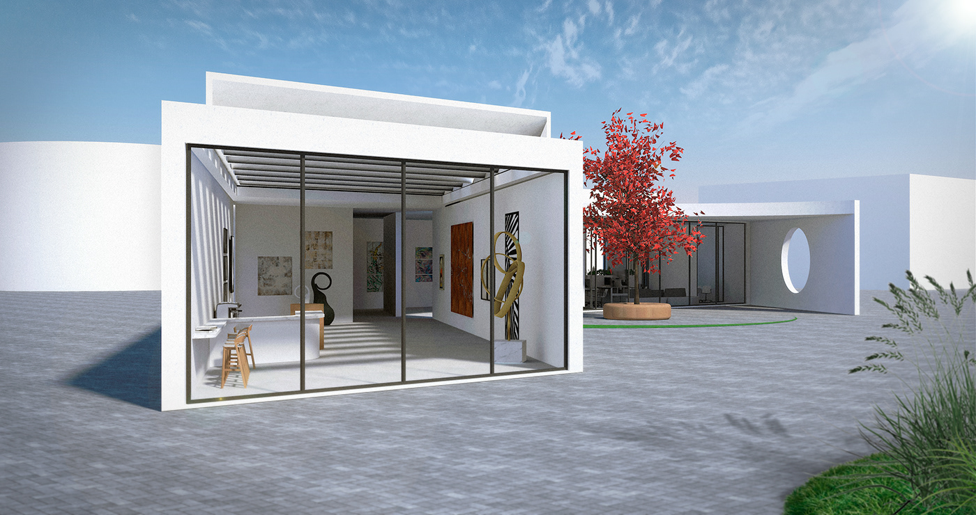 3D architecture art city house Office Render SketchUP Urban