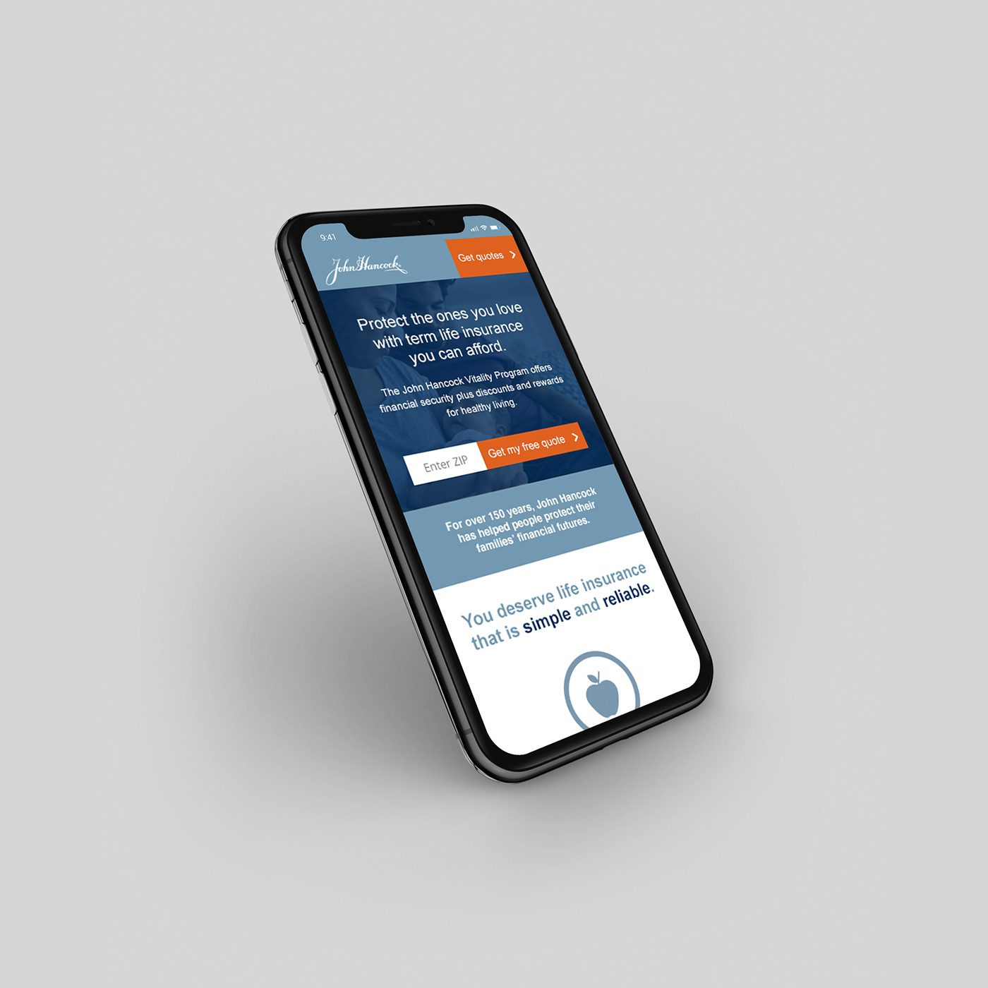 John Hancock Life Insurance Mobile Website On Behance