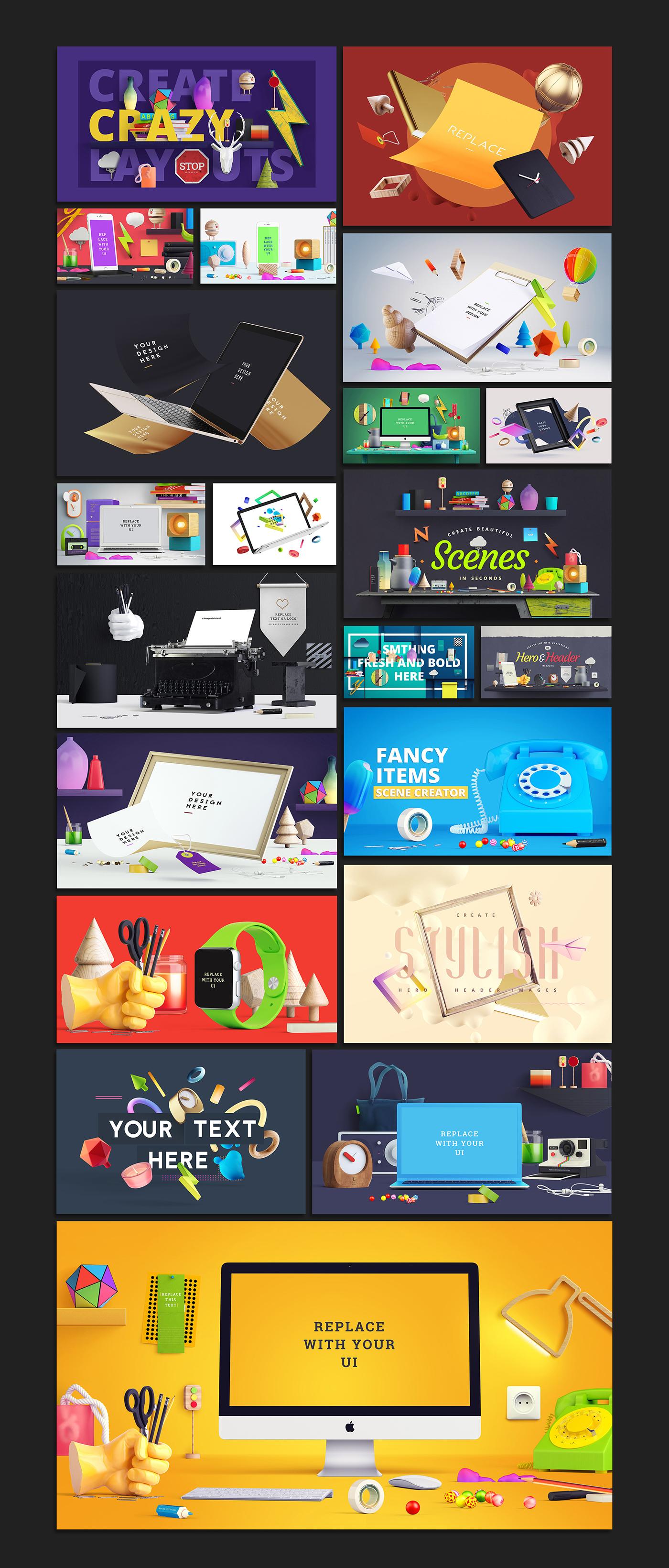 scene Generator scene generator Mockup free mock-up table product psd free psd freebie