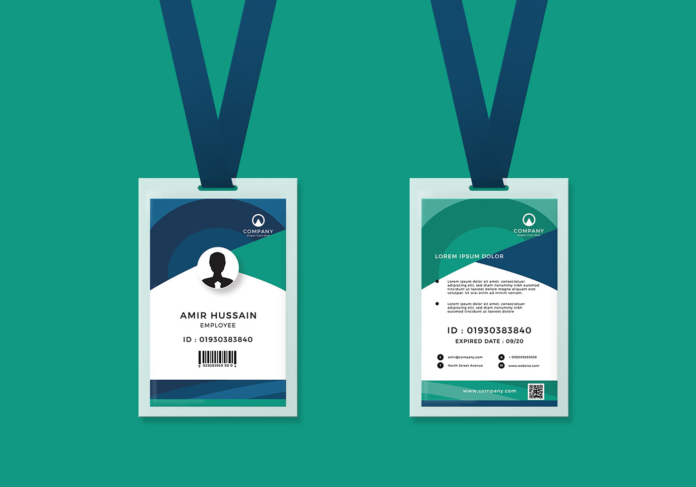 Free Download Corporate ID Card Template on Behance Regarding Template For Id Card Free Download