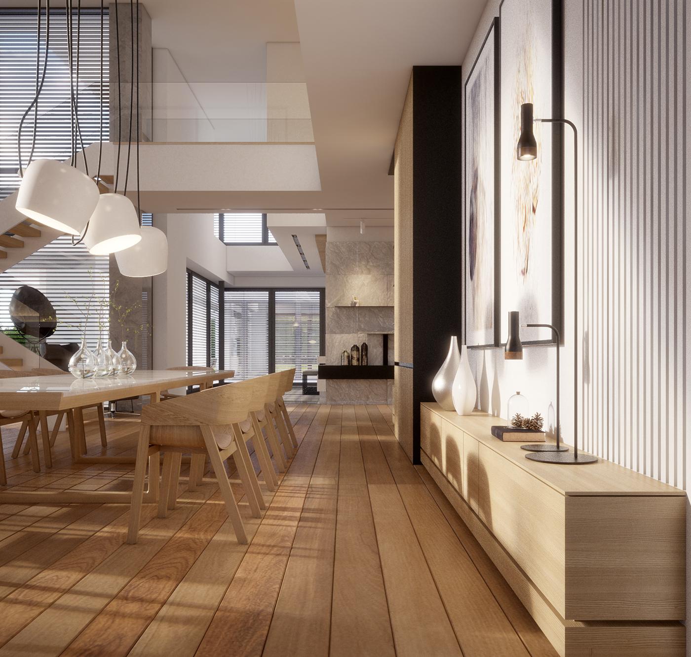 Warm Contemporary Interiors: WARM, MODERN INTERIOR DESIGN (vis. For Lk-projekt.pl) On