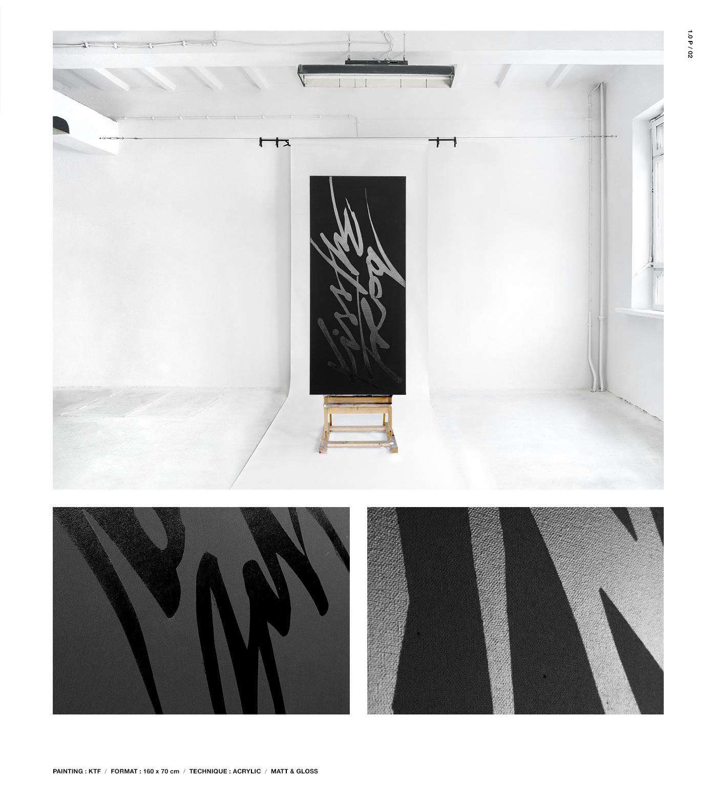 typography   painting   animation  oesu oskarpodolski lunapark Exhibition