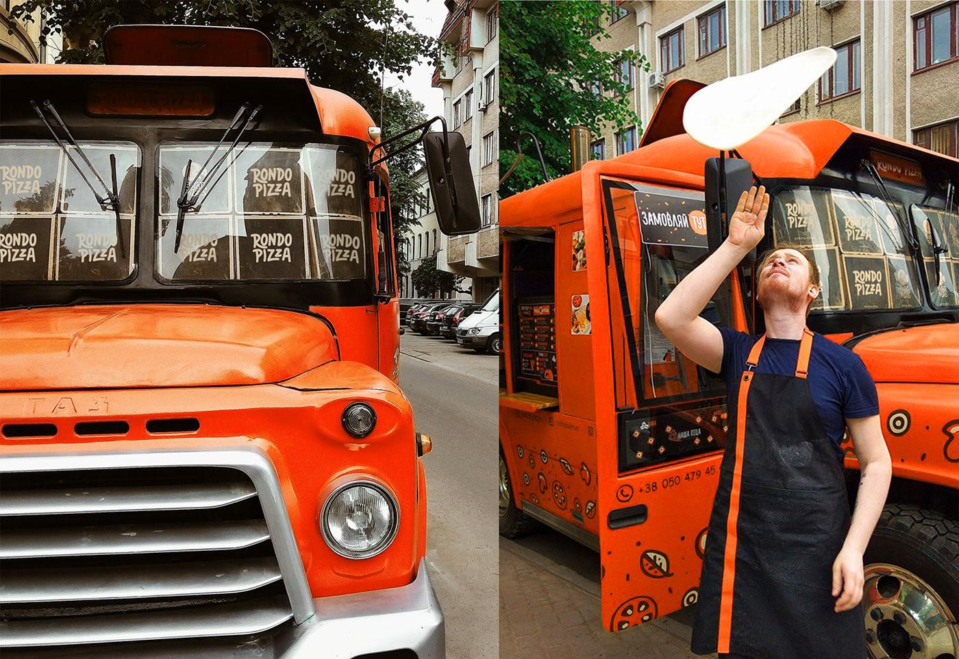 Image may contain: land vehicle, orange and vehicle