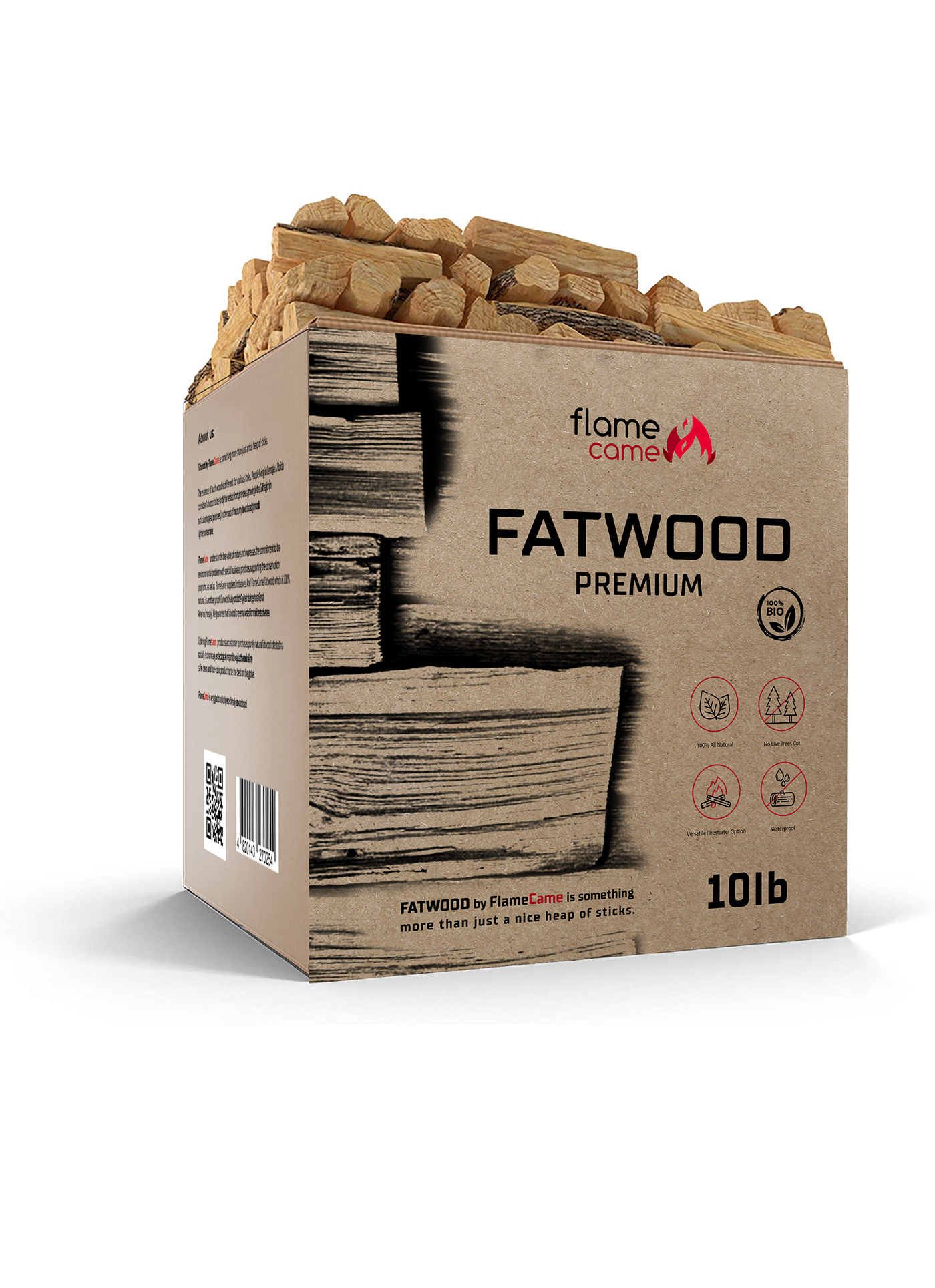 FATWOOD fire flame modern package design  wood