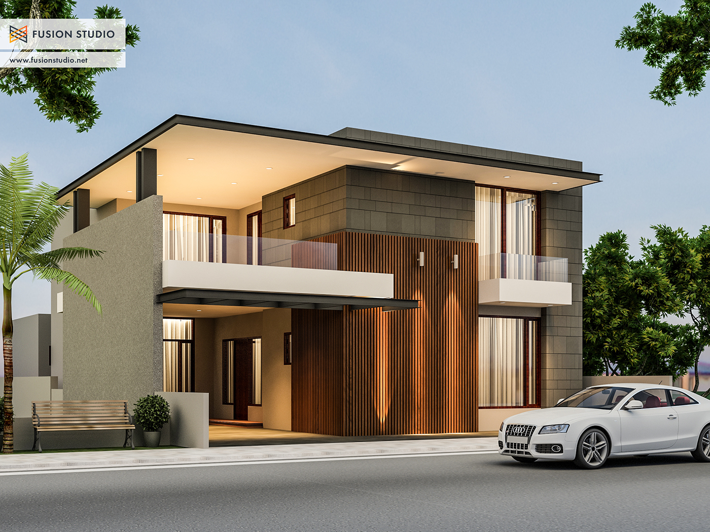 500 yards house elevation on behance for Best architecture home design in india