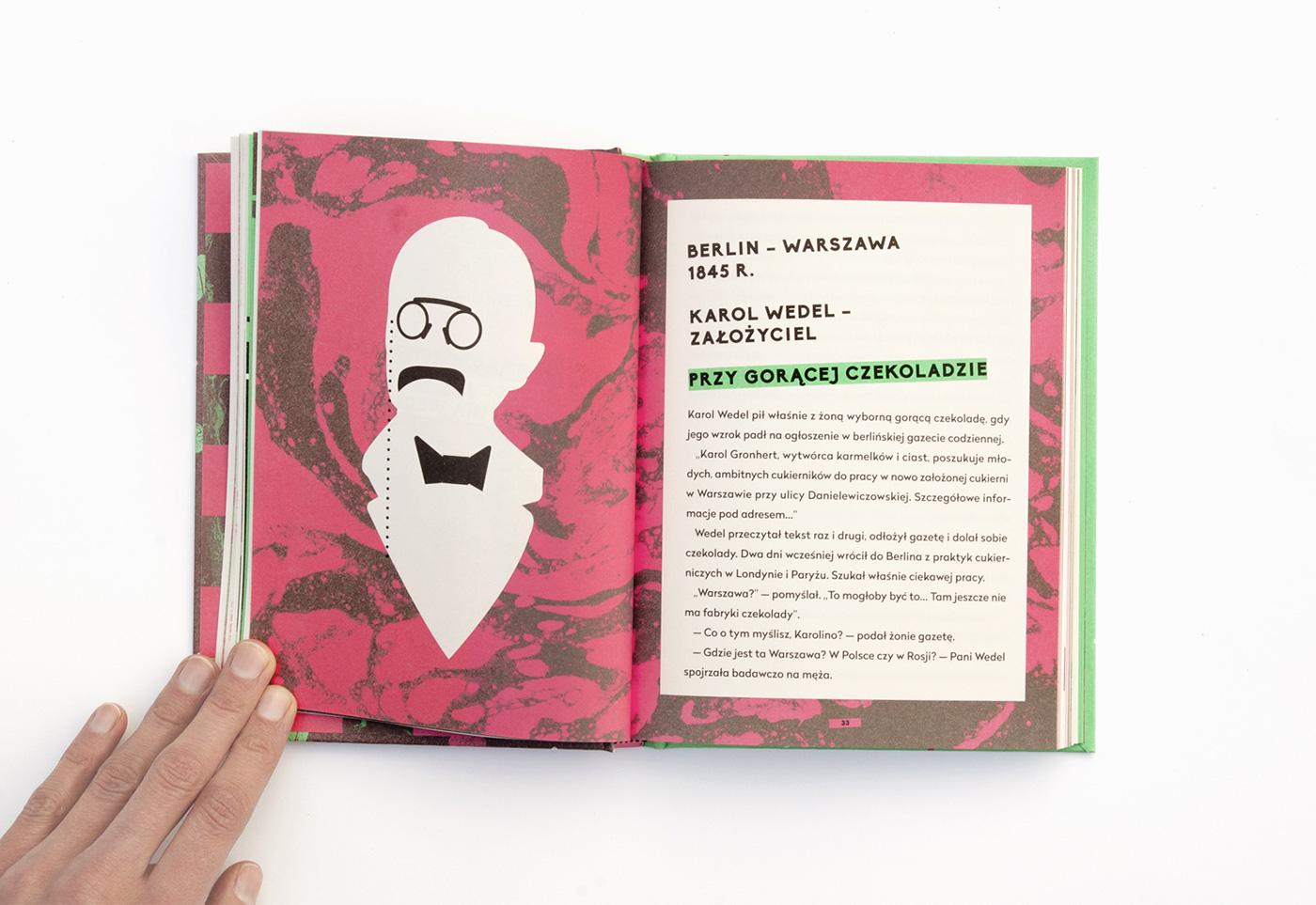 Wedel chocolate Marble sweet book design marbled anna czerwińska-rydel