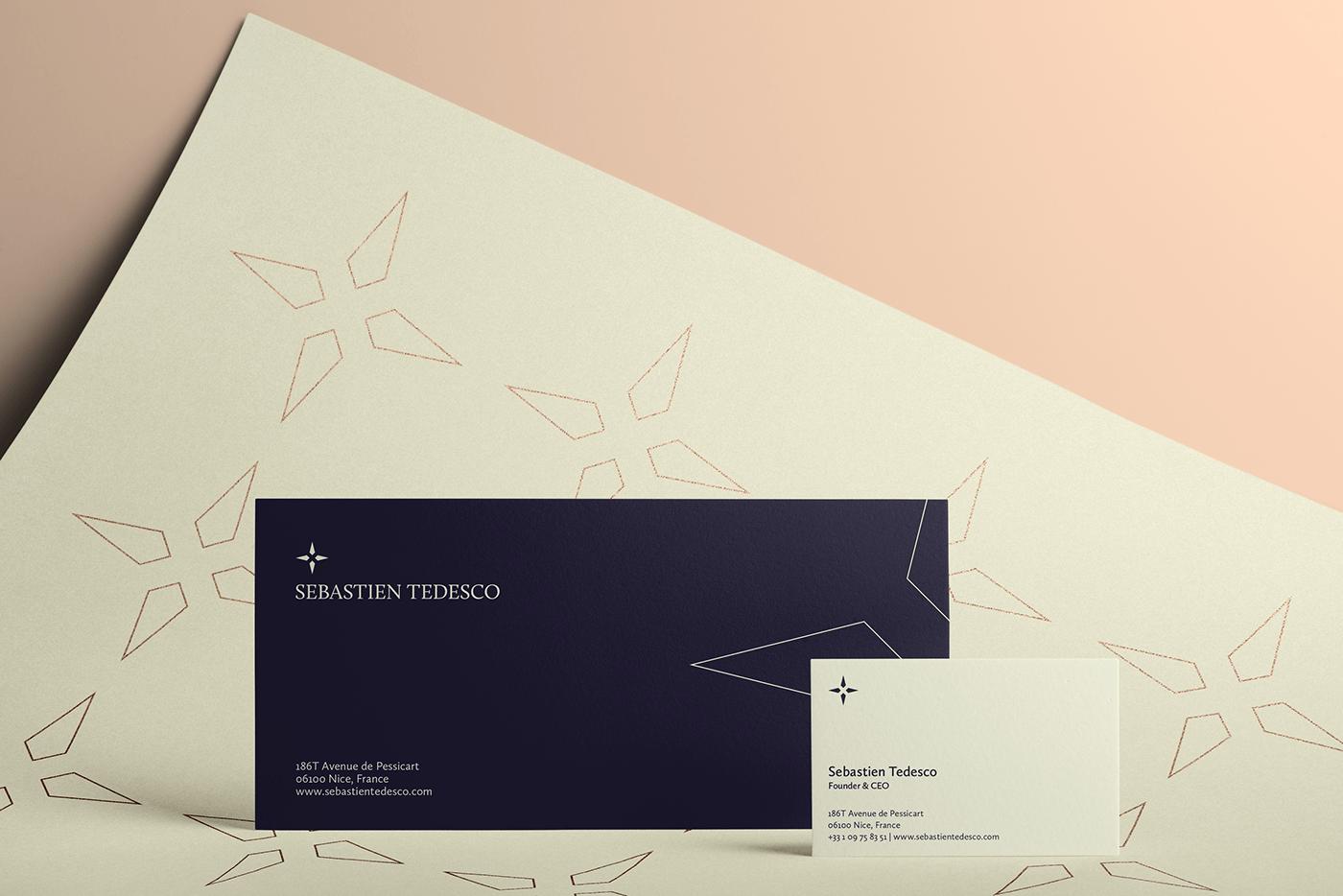 sebastien tedesco business card envelope pattern