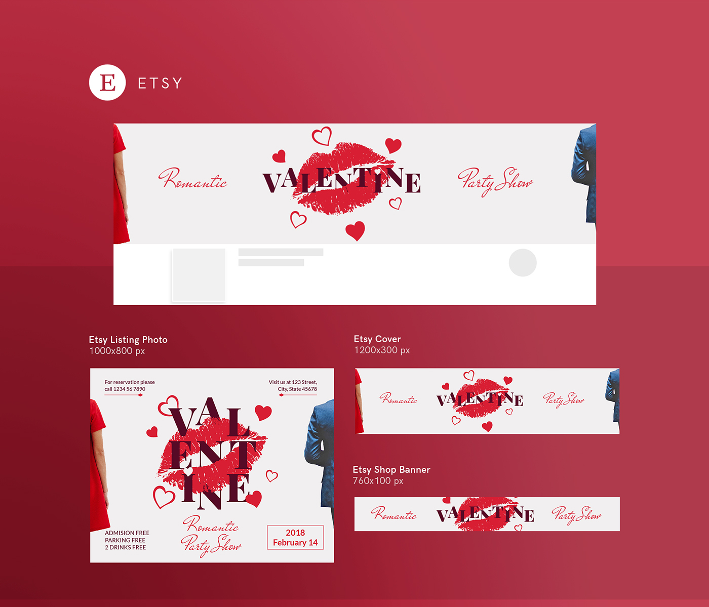 Valentines Day Modern And Creative Design Templates On Behance