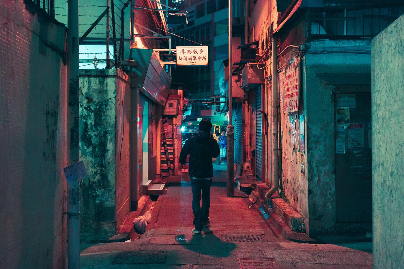 neon Photography  Cyberpunk night photography glow lights