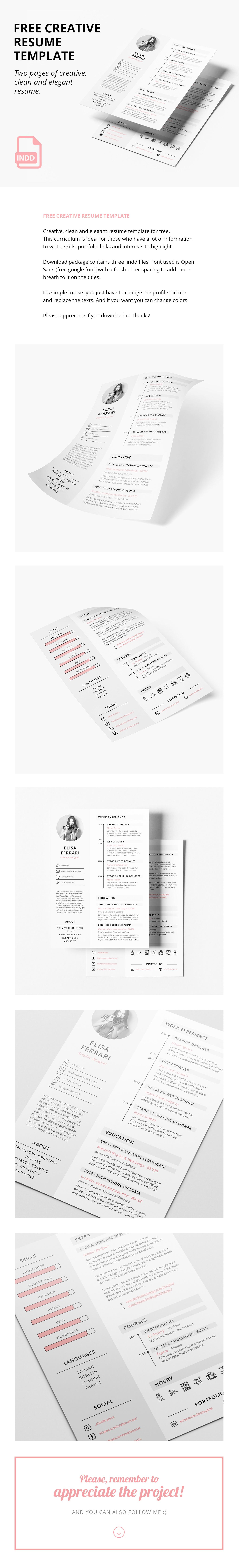 Resume resume template elegant resume curriculum graphic curriculum  clean resume Creative Resume curriculum template creative curriculum
