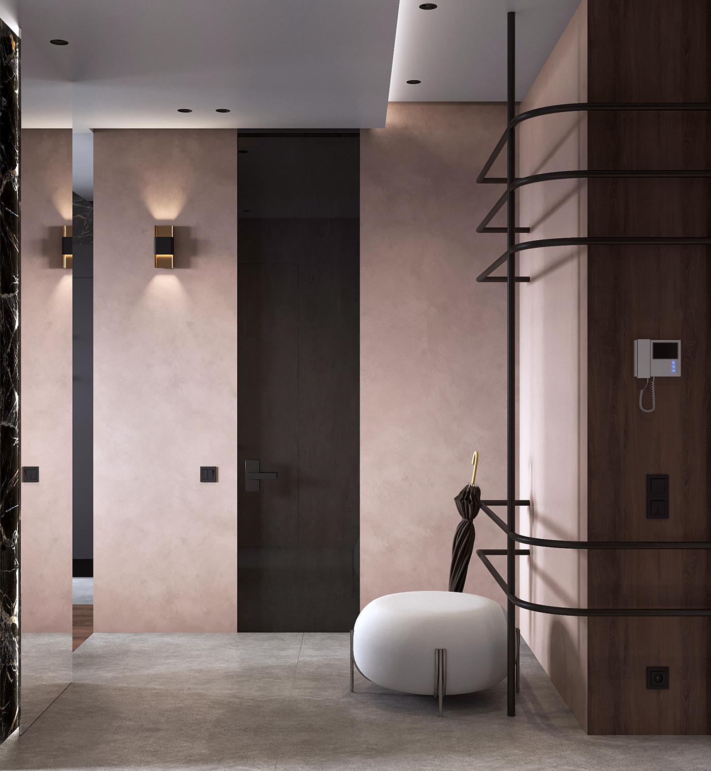 corona Render Interior modern CG visualization design