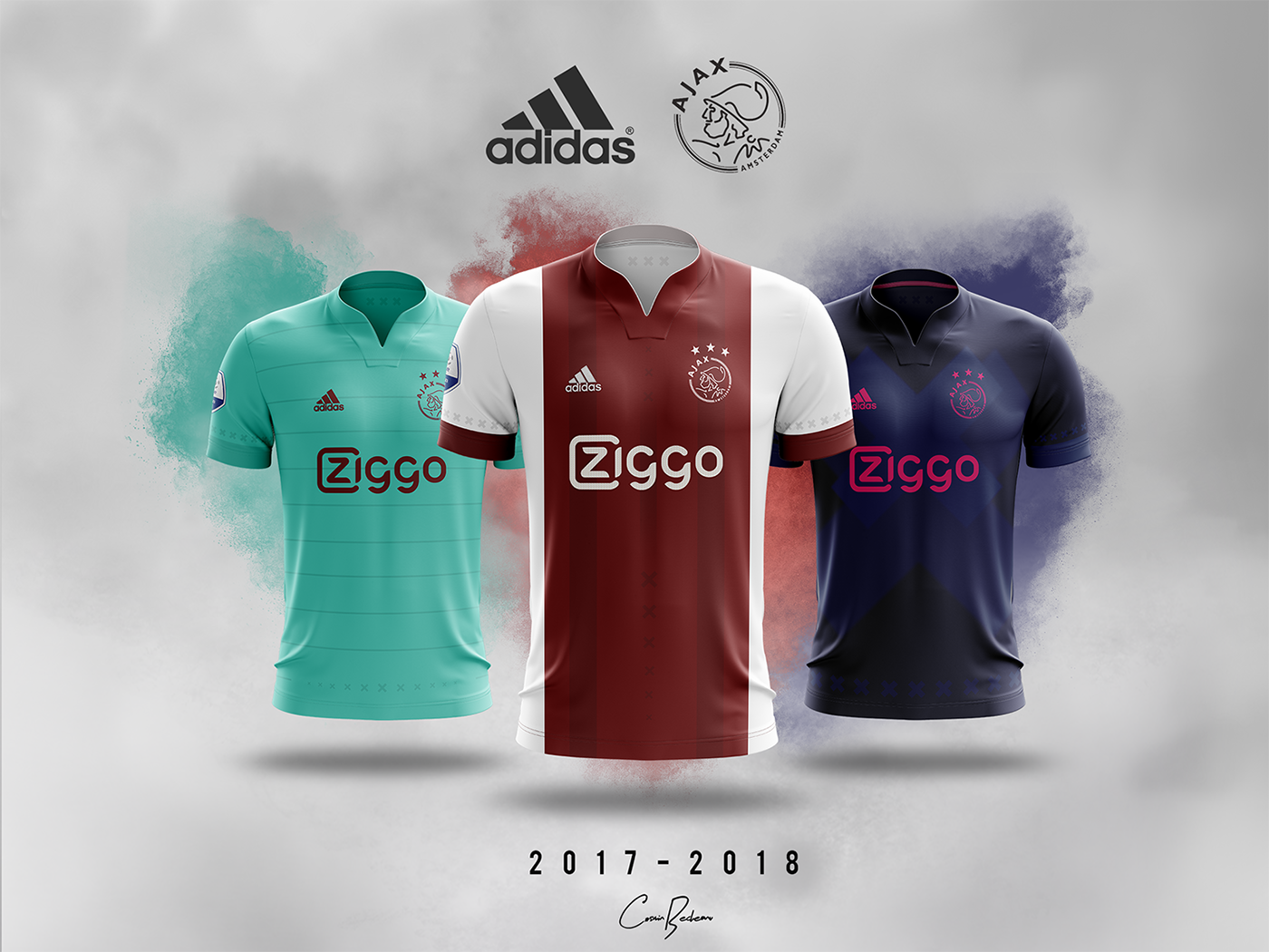 37d000889 Ajax Amsterdam 2017 18 · Shirts Concept ADIDAS on Behance