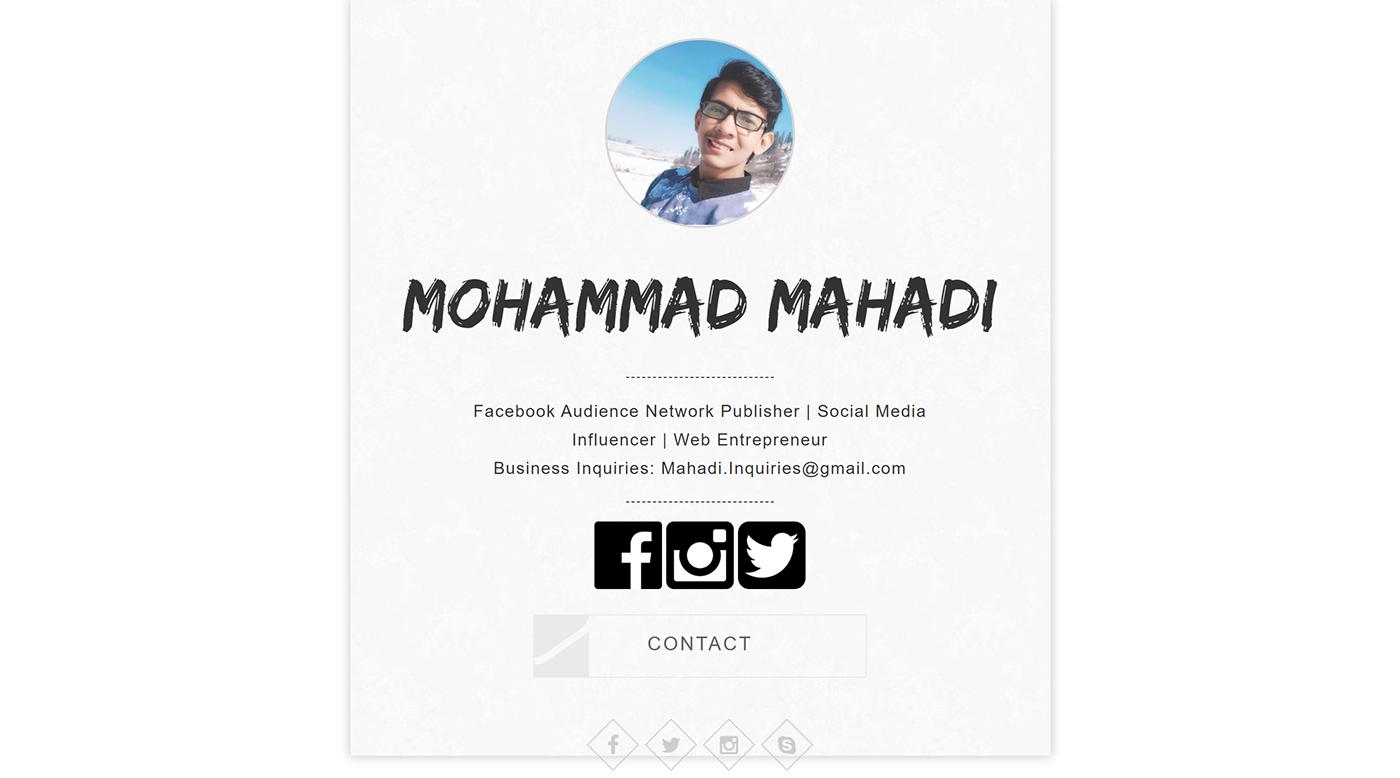 portfolio ui design Website Design