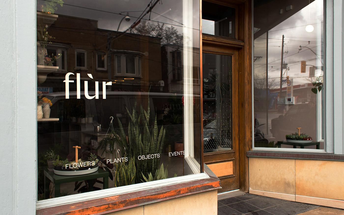 Flower Shop florist Floral design logo Retail identity