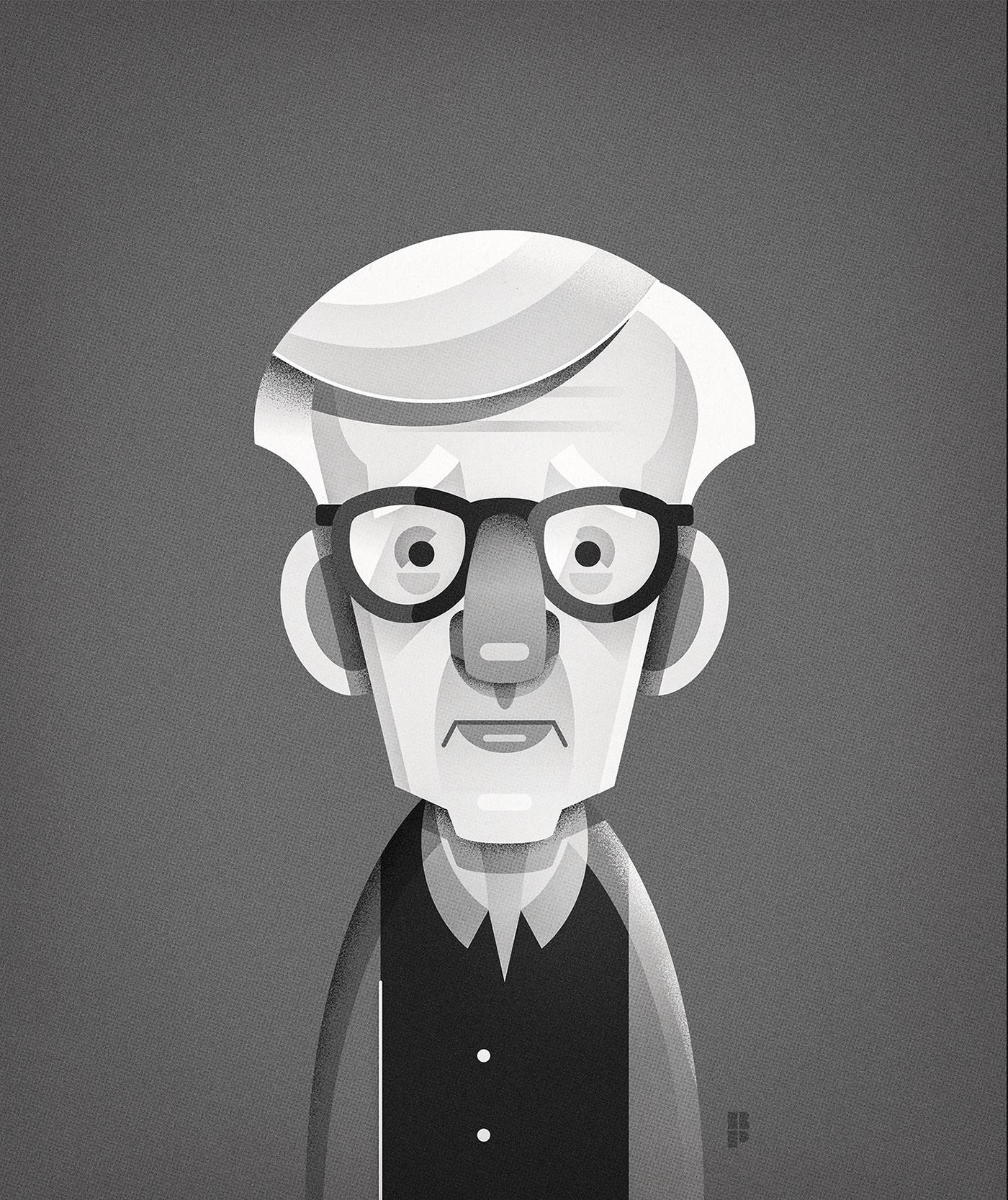 actors caricaturas famosos famous Illustrator portraits vector
