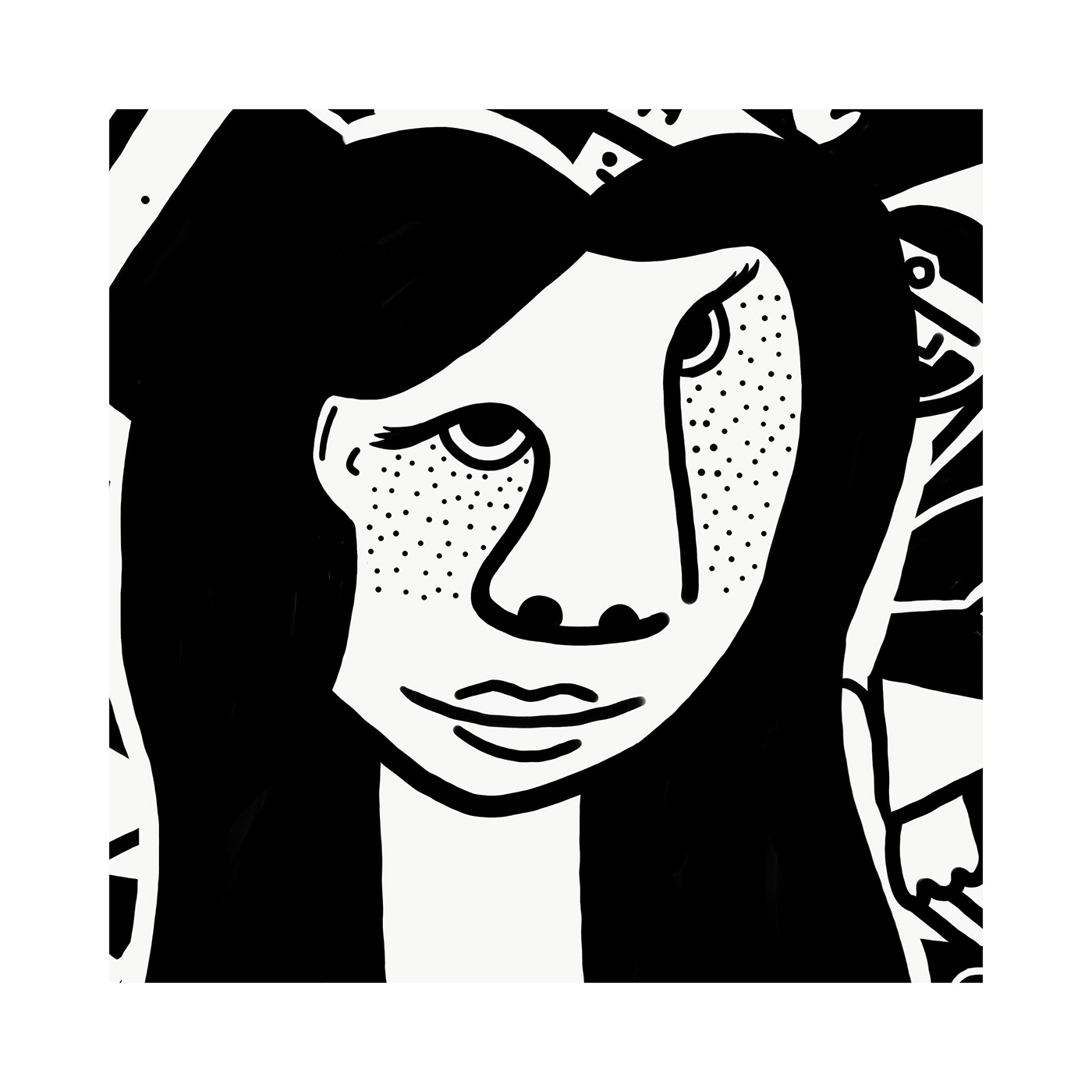 Aarav SwatiManish abstract Abstract Art art black and white cubism distortion art face
