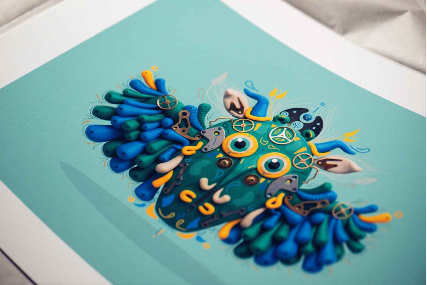 prints artworks clay polymer clay Digital Drawing Show Exhibition  Toronto STEAMPUNK mythology