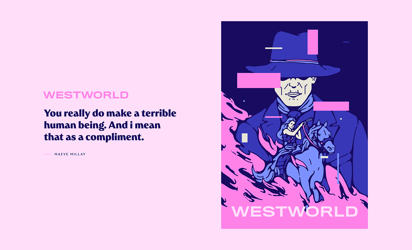 animation  dark Fun gif ILLUSTRATION  personal vector westworld trend