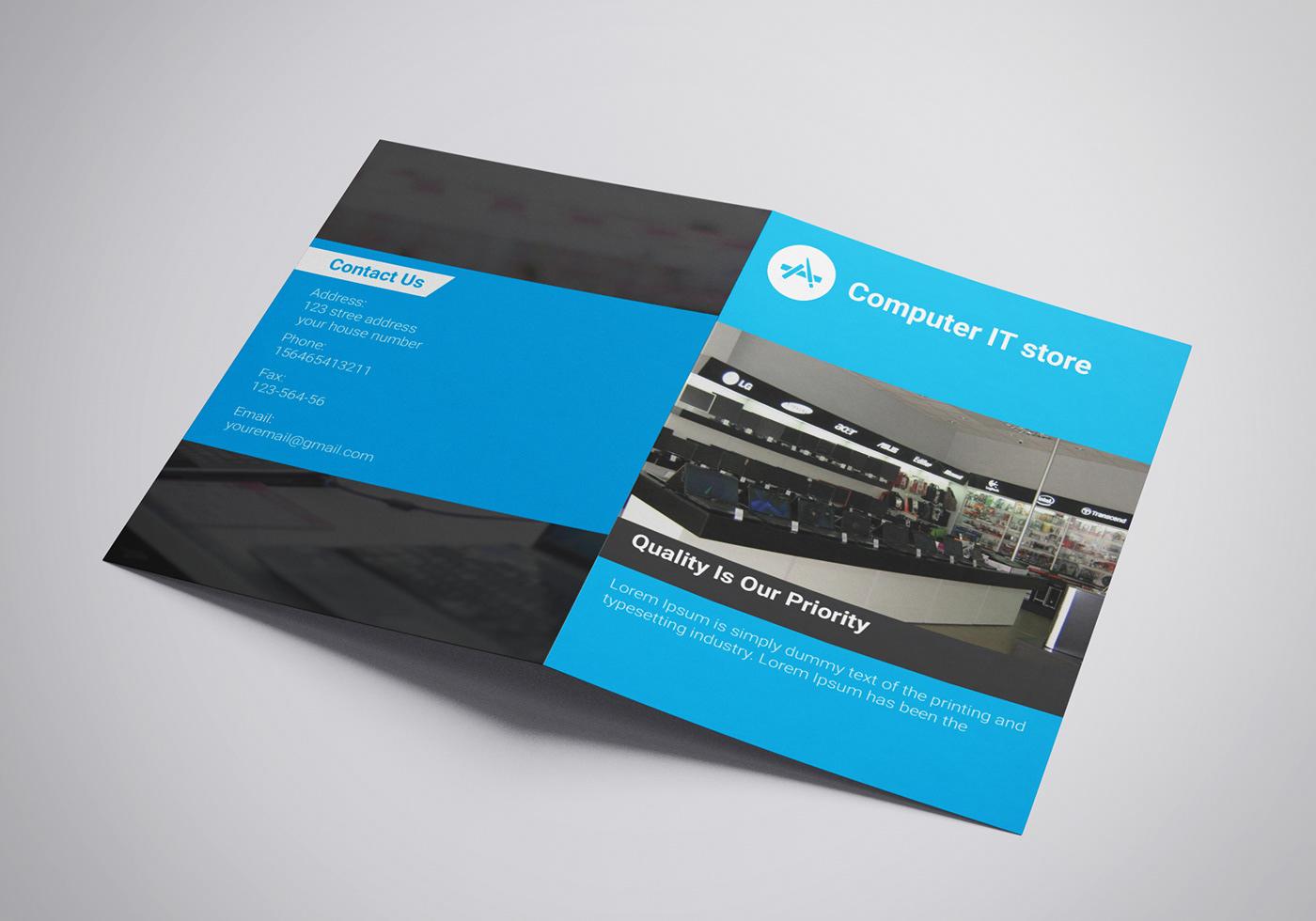 bi fold brochure design on behance