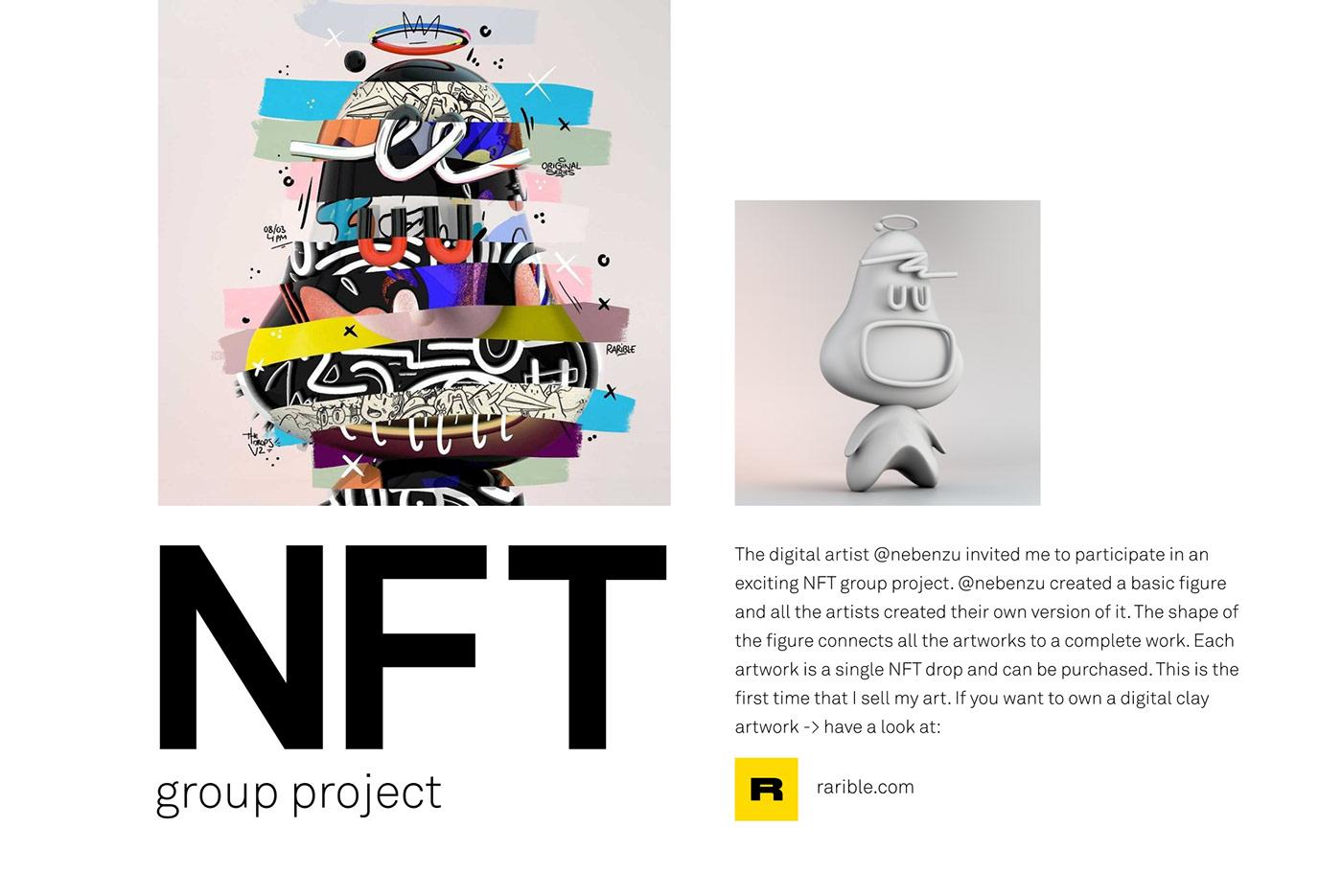 3D Character characterdesign clay clayart Digital Art  ILLUSTRATION  ntf NTF art rarible