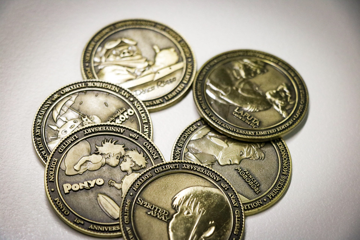 Studio Ghibli Limited Edition Anniversary Coins on Behance