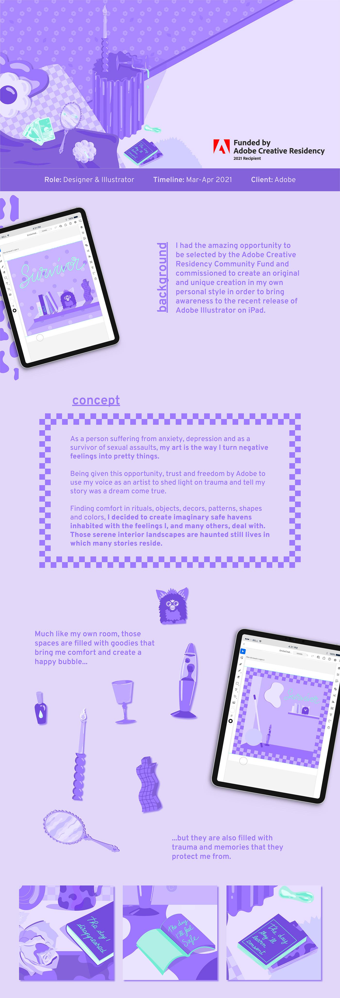 adobe art decoration ILLUSTRATION  Illustrator Interior iPad mental health places vector