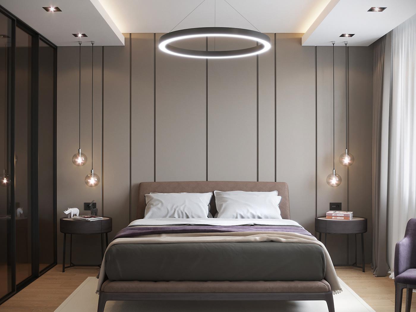 Bedroom interior on Behance