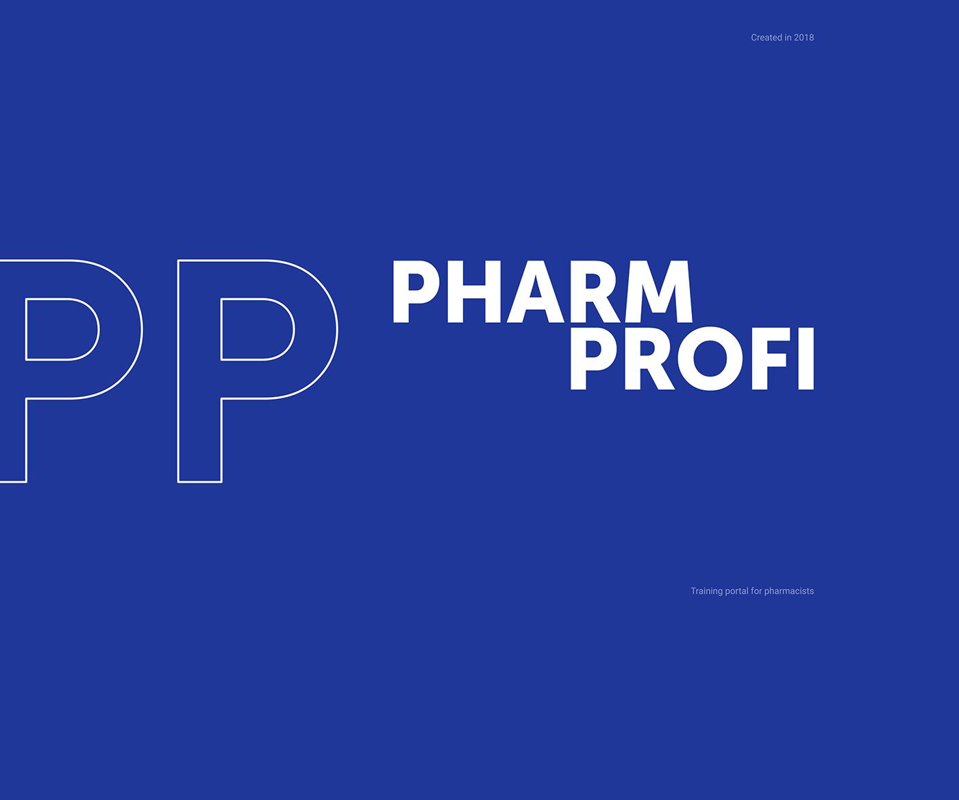 Pharmaceuticals portal uducation training UI ux interactive wireframe Web blue