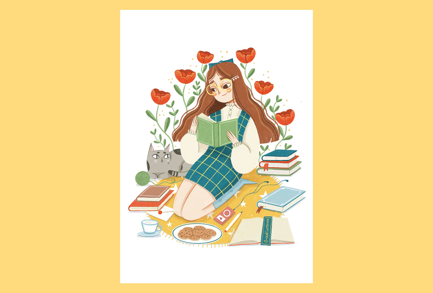 art Bookworm Character design  digital illustration ILLUSTRATION