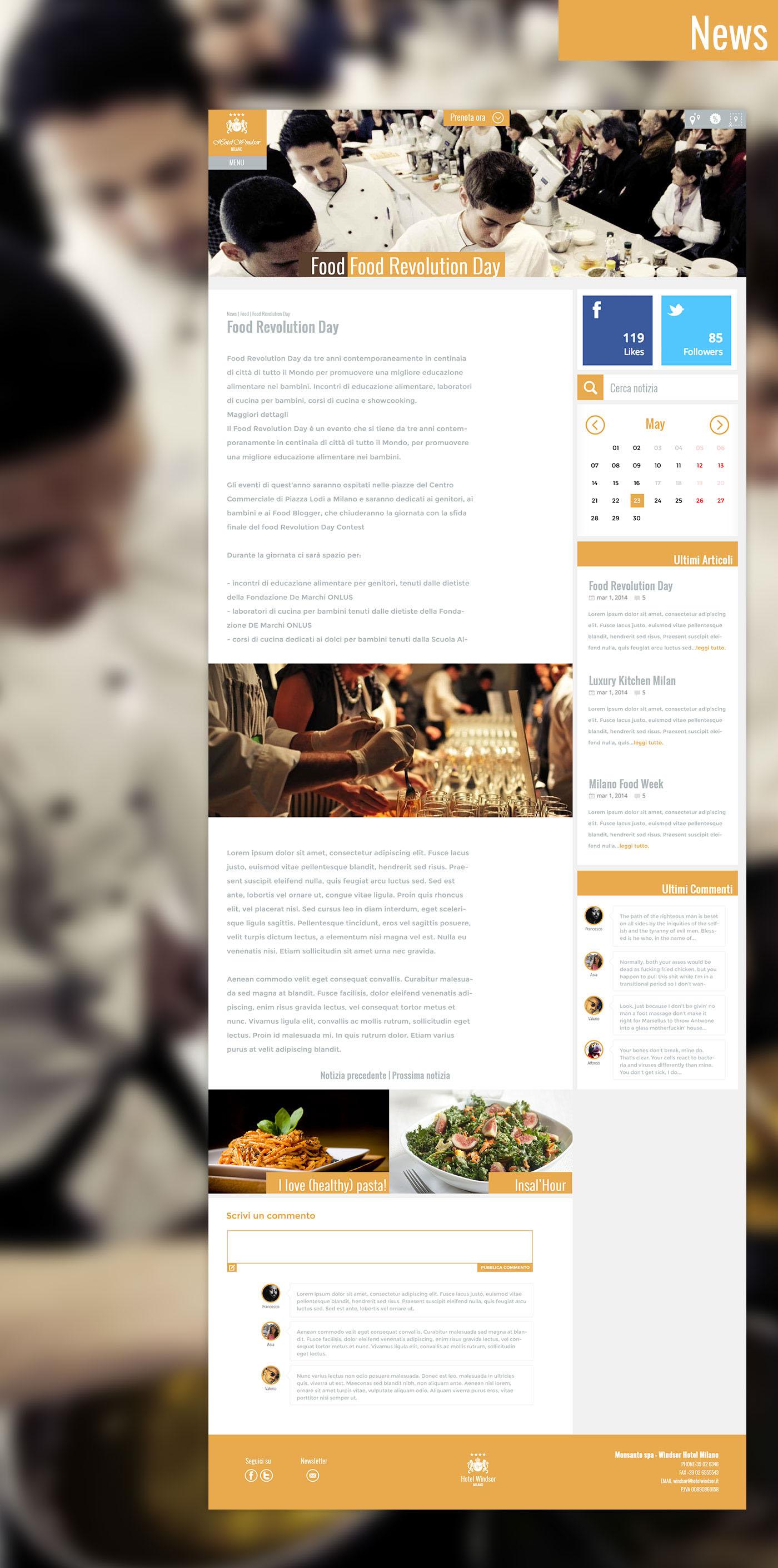 hotel milano expo Responsive itinerary design Layout