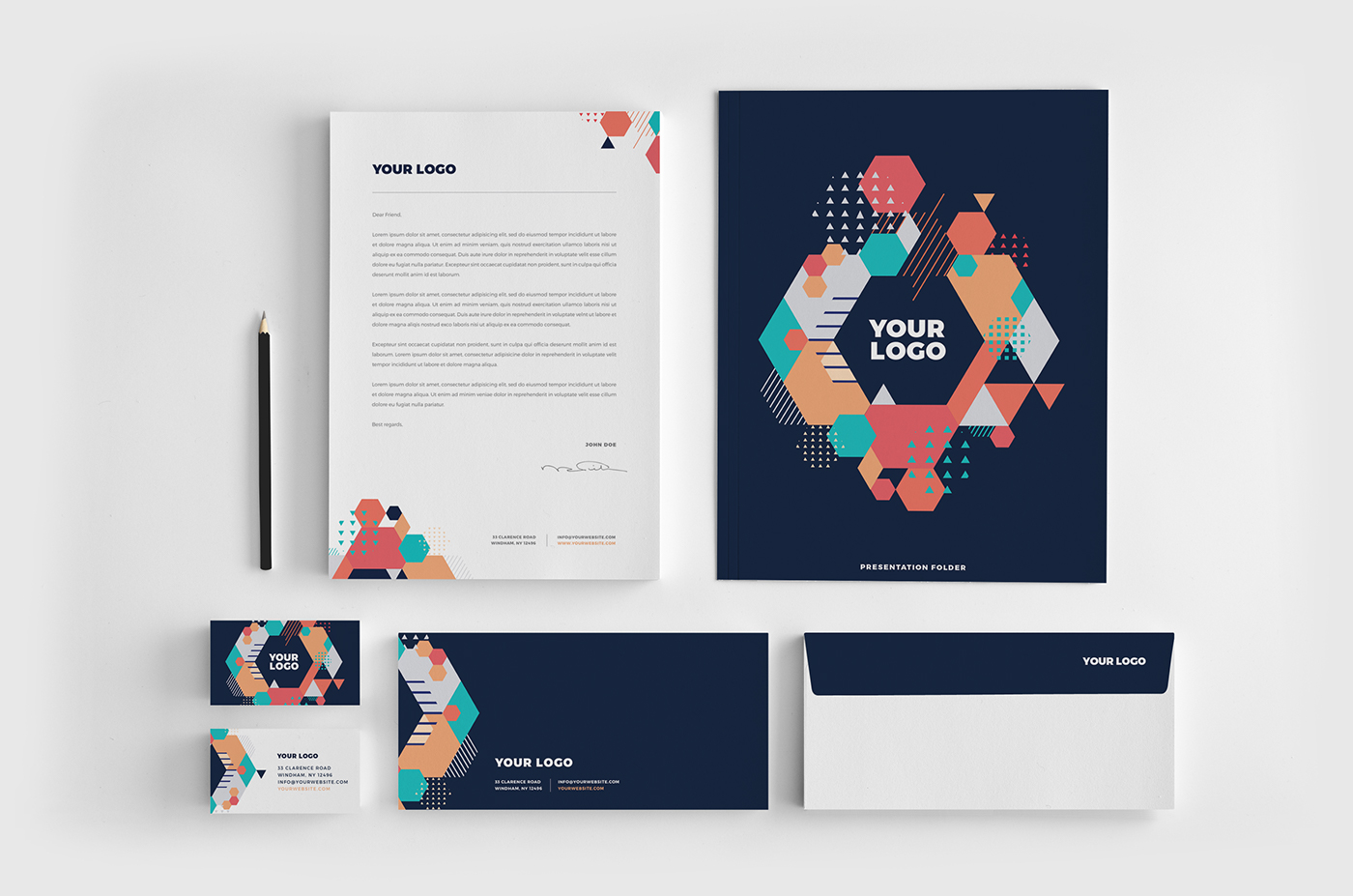 colorful modern cool stationery on behance rh behance net