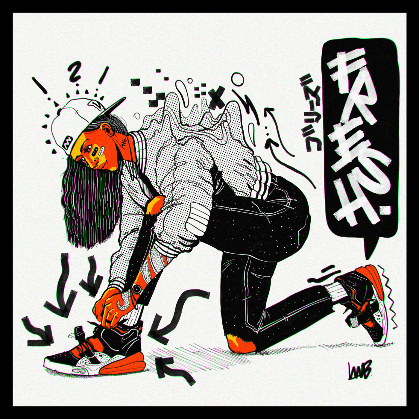 art comic japanese cartoon Digital Art  Drawing  Fashion  abstract timelapse
