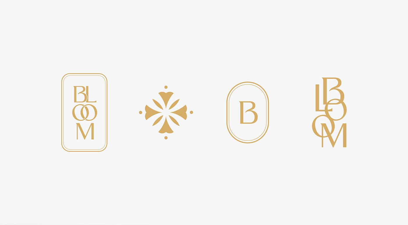 Logotipos secundarios de Bloom, marca de velas aromáticas artesanales