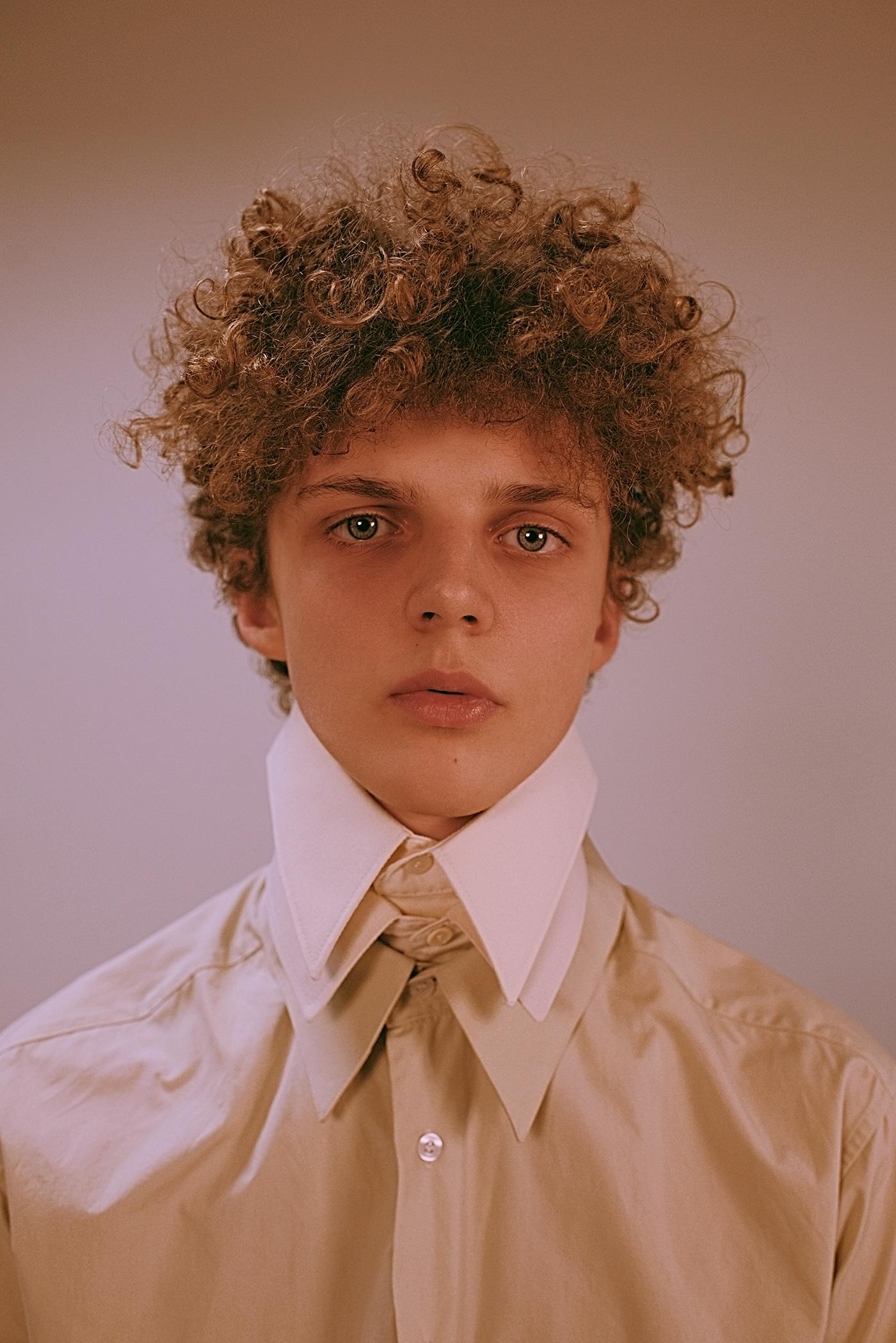 test boy model Style shirt portrait retouch