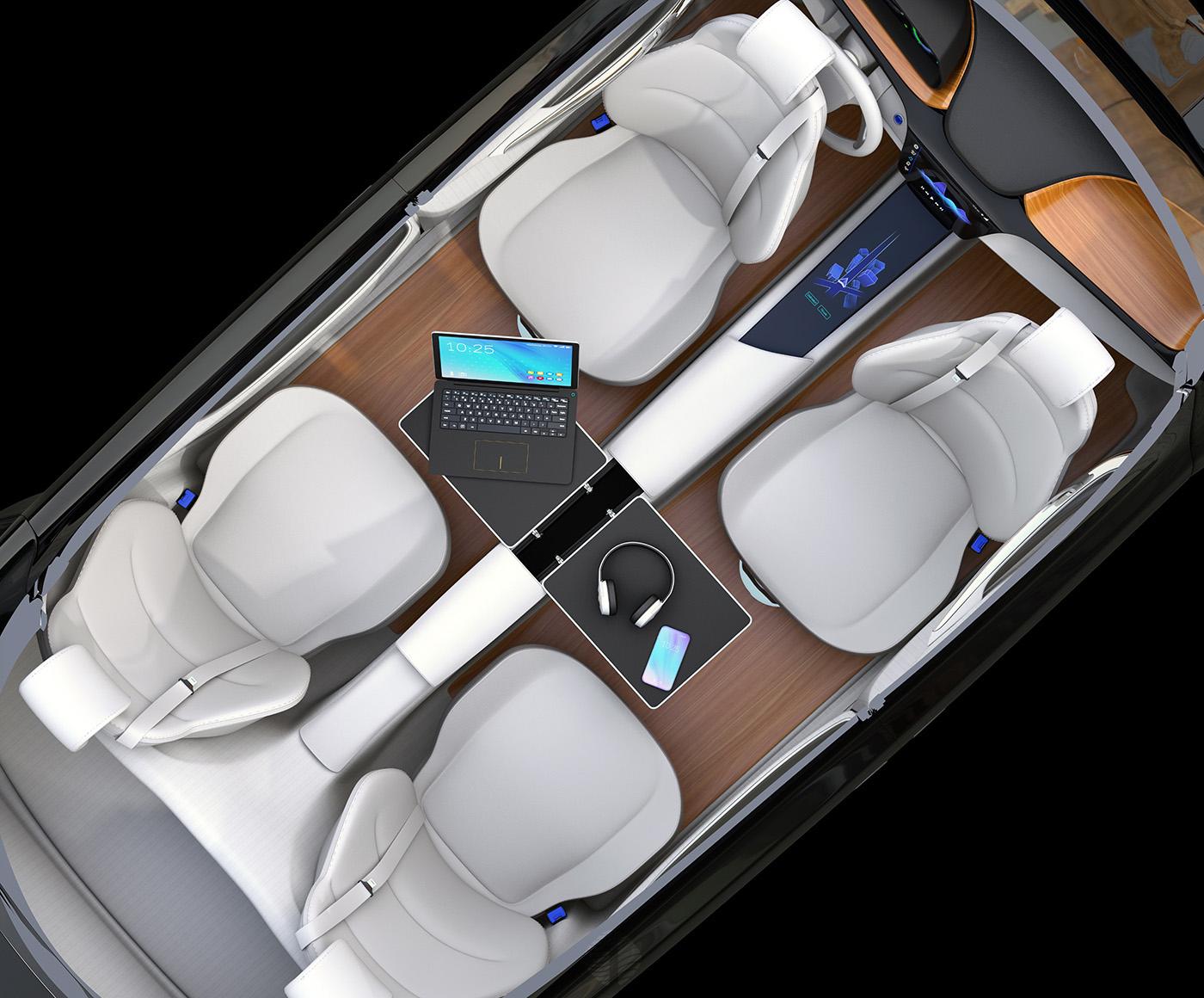 Car Interior Design: Self-driving Car Interior Concept. On Behance